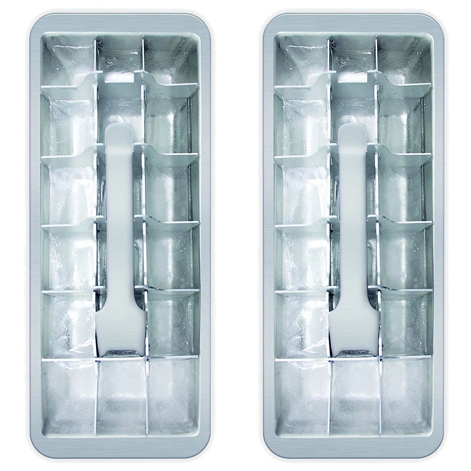 2 Pack Kitchen 18 Cube Vintage Kitchen Ice Cube Tray 2 Pack