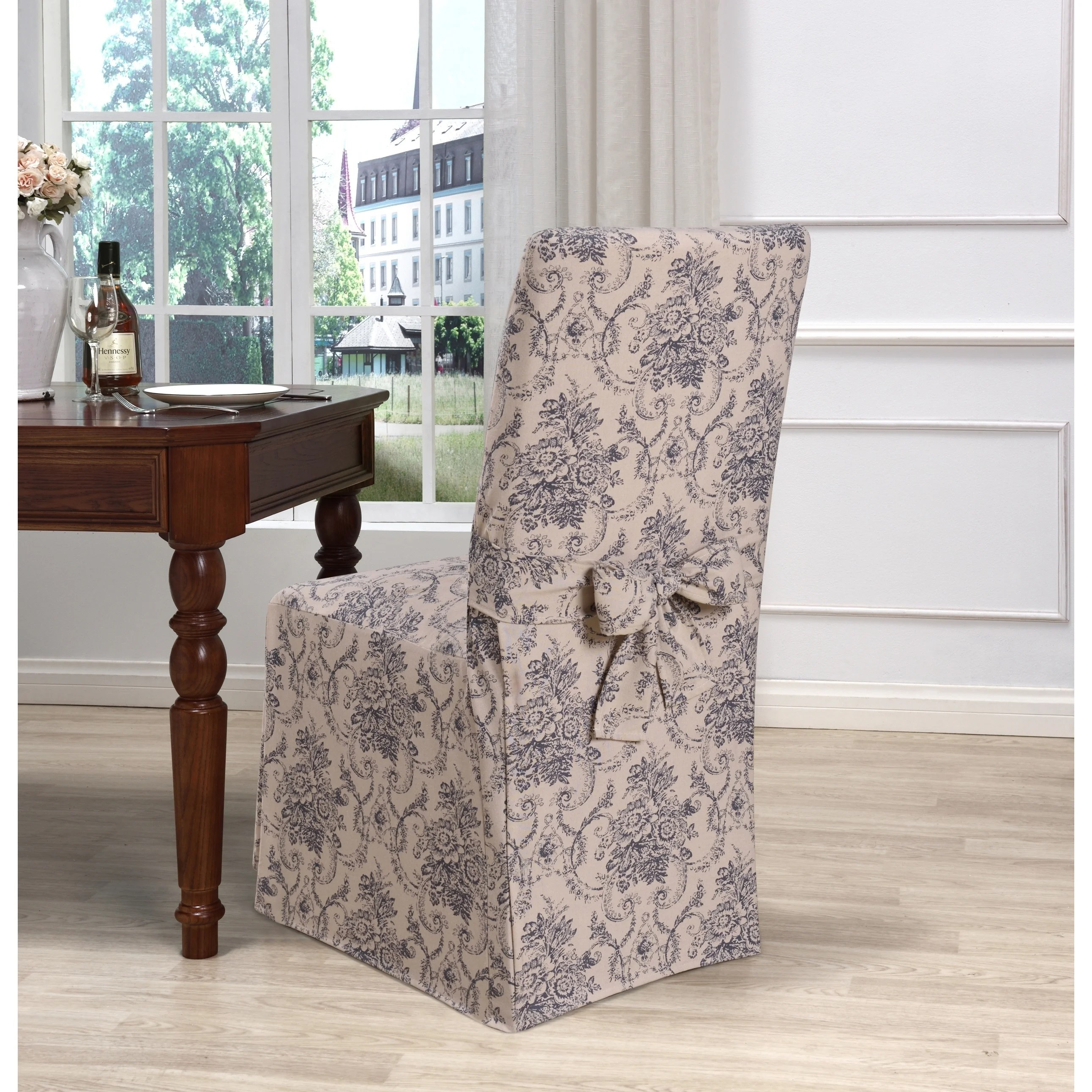 Quilted Lounge Chair Covers Kathy Ireland Chateau Dining Chair Cover