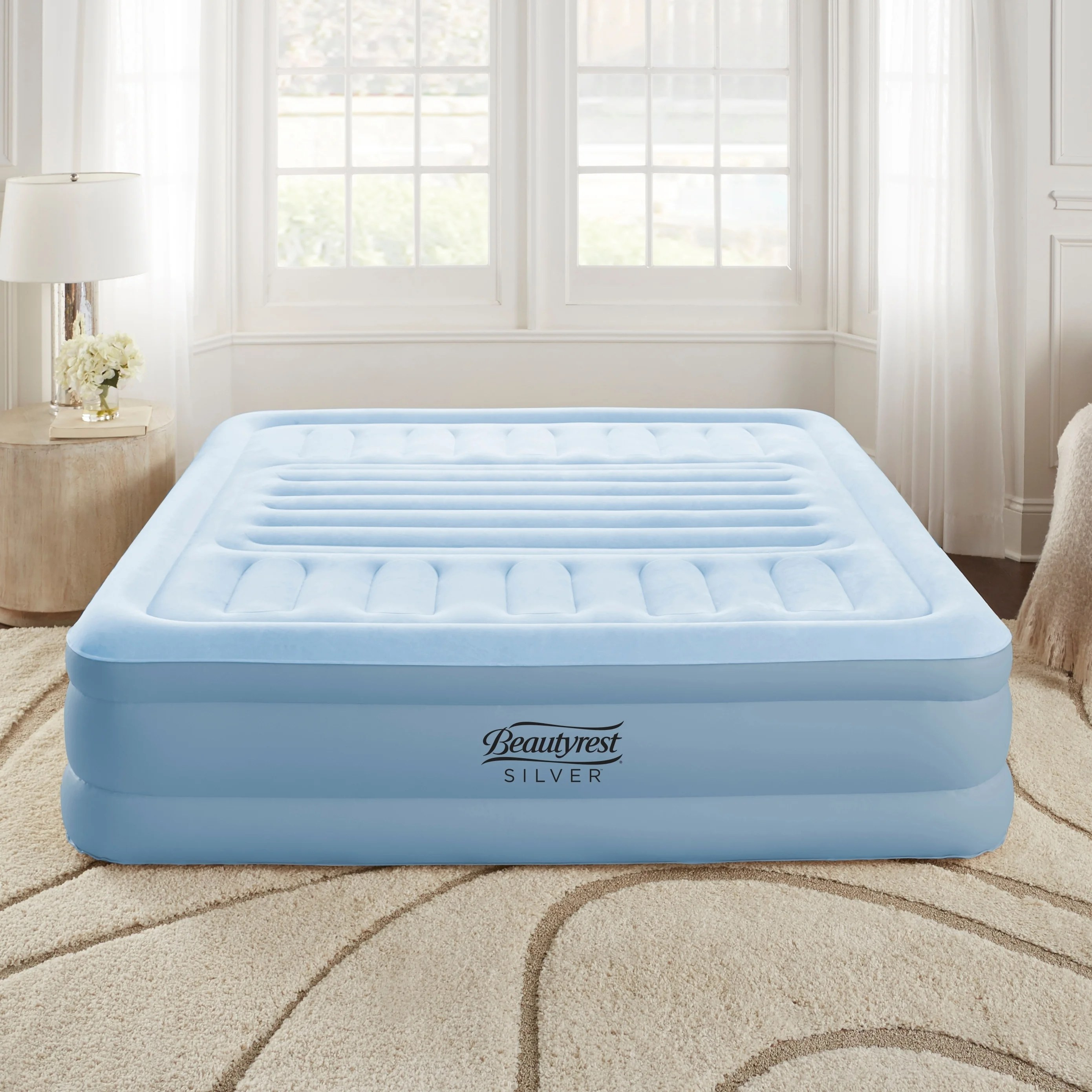 Air Mattress Frame Queen Beautyrest Silver Queen Lumbar Supreme Air Bed Mattress Adjustable Lumbar Support Built In Pump