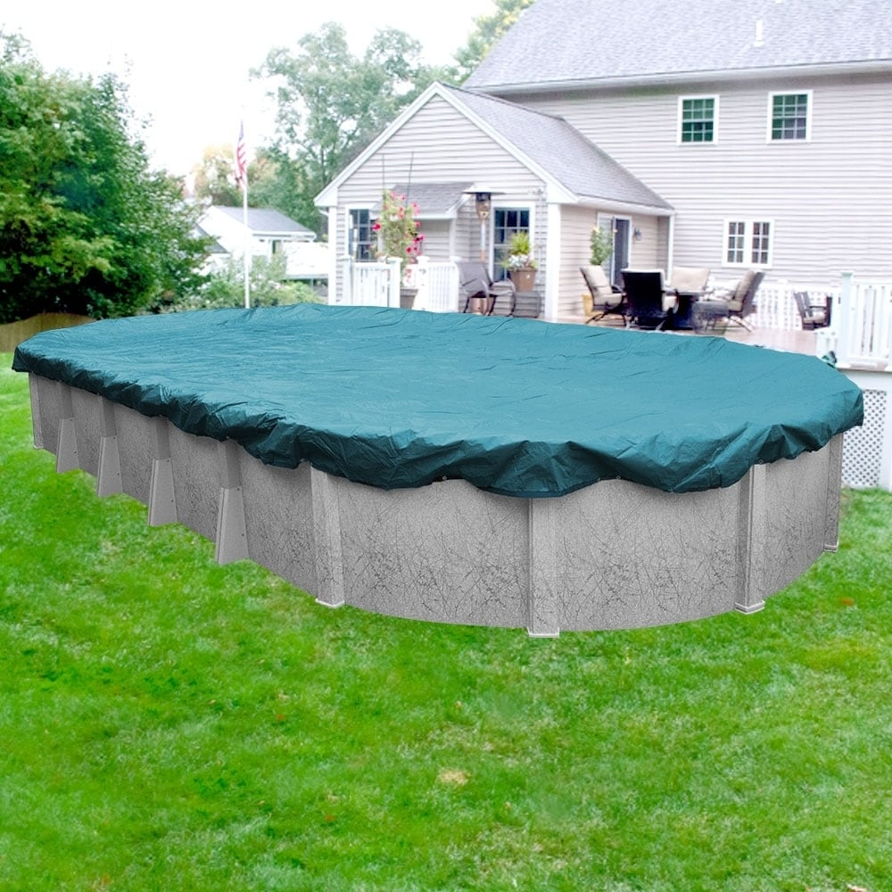 Above Ground Pool Winter Cover Pool Mate Guardian Winter Cover For Oval Above Ground Swimming Pools