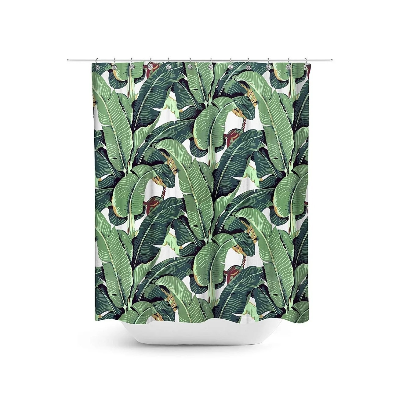 Banana Leaf Shower Curtain Tropical Plant Banana Leaf Shower Curtain Set