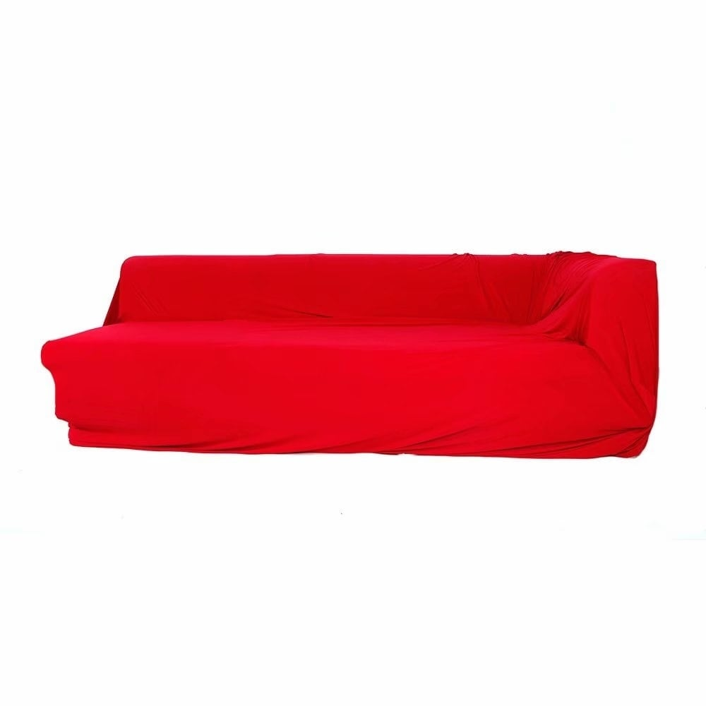 Quality Sofa Covers Spandex 2 Seats 2 Seats L Shaped High Elasticity Sofa Covers Red