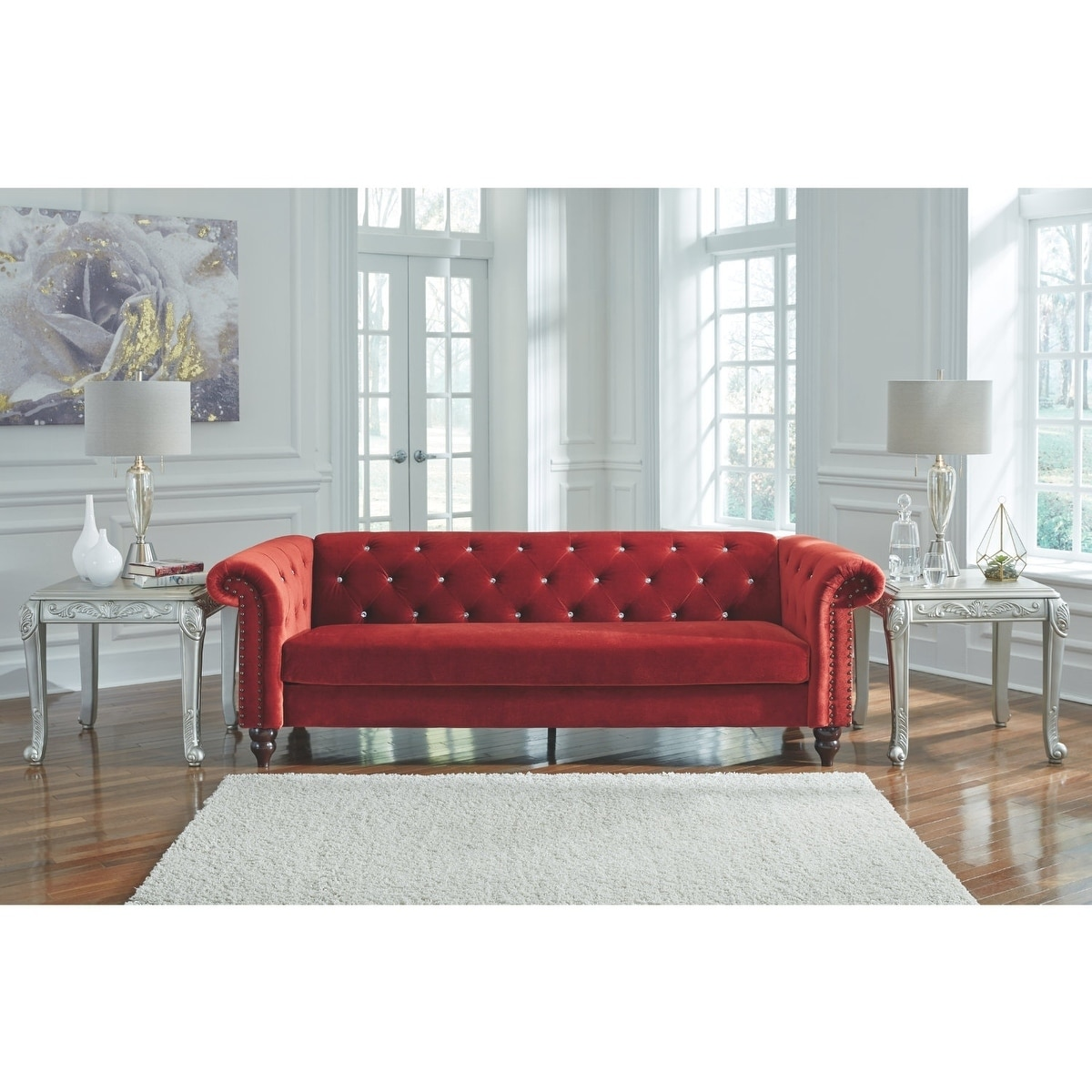 Klassische Sofas You Can Assemble Signature Design By Ashley Malchin Red Contemporary Ready To Assemble Sofa