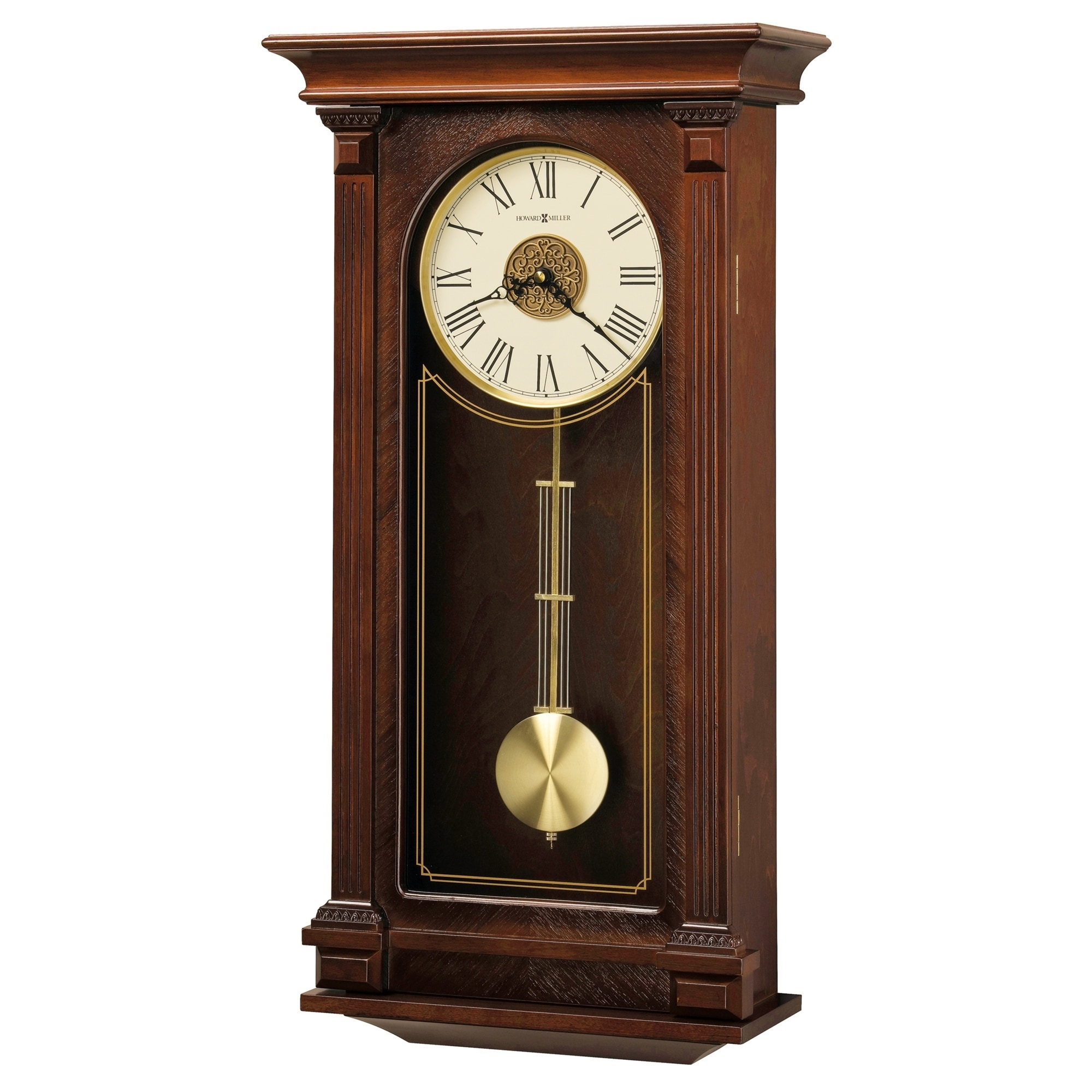 Wall Clock Design Howard Miller Sinclair Grandfather Clock Style Chiming Wall Clock With Pendulum Charming Vintage Old World Classic Design