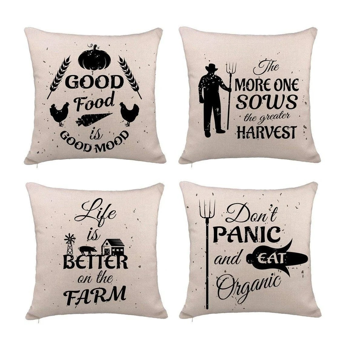Quotes On Sofa Farmhouse Quotes Pillow Cover Cushion Case For Sofa 18