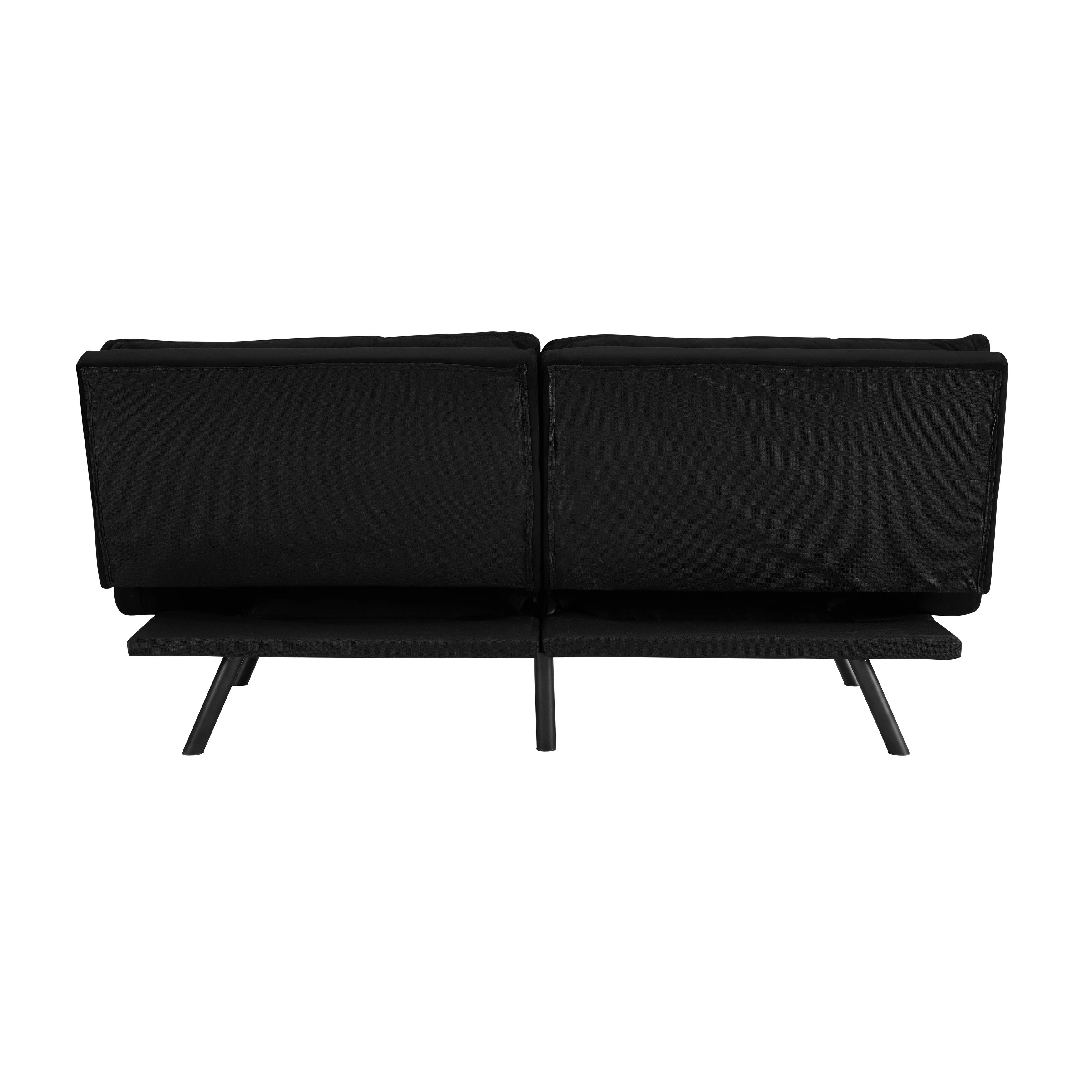 Sofa With Foam Seats Sofas 2 Go Portland Convertible Sofa With Memory Foam Seating Black