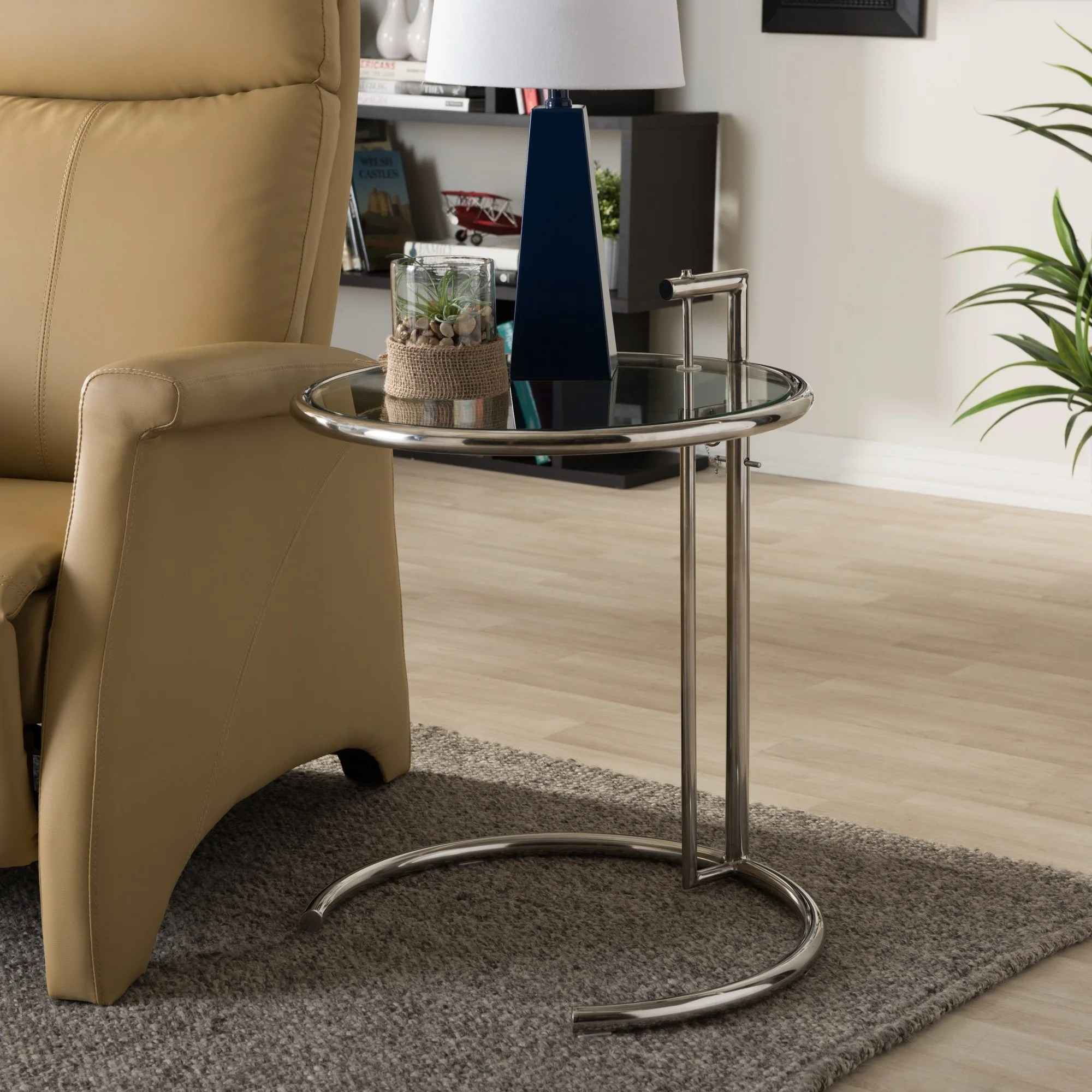 Eileen Gray Table Eileen Gray Stainless Steel Accent Table