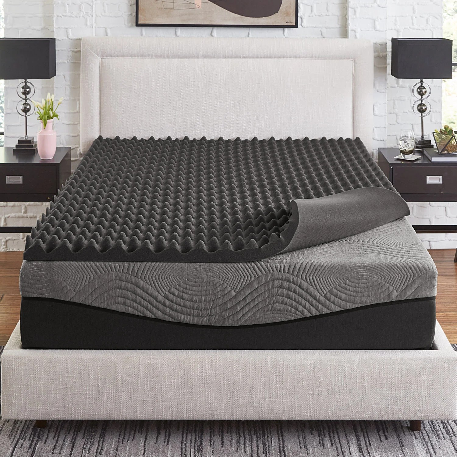 Memory Foam Mattress Too Firm Slumber Solutions Active 3 Inch Big Bump Charcoal Memory Foam Topper