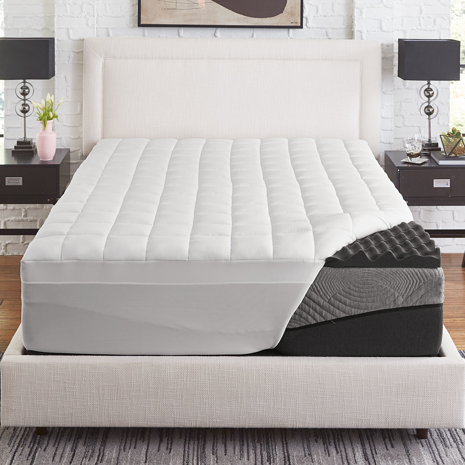 Memory Foam Mattress Too Firm Slumber Solutions Active 2 5 Inch Big Bump Charcoal Memory Foam With 1 5 Inch Fiber Cover
