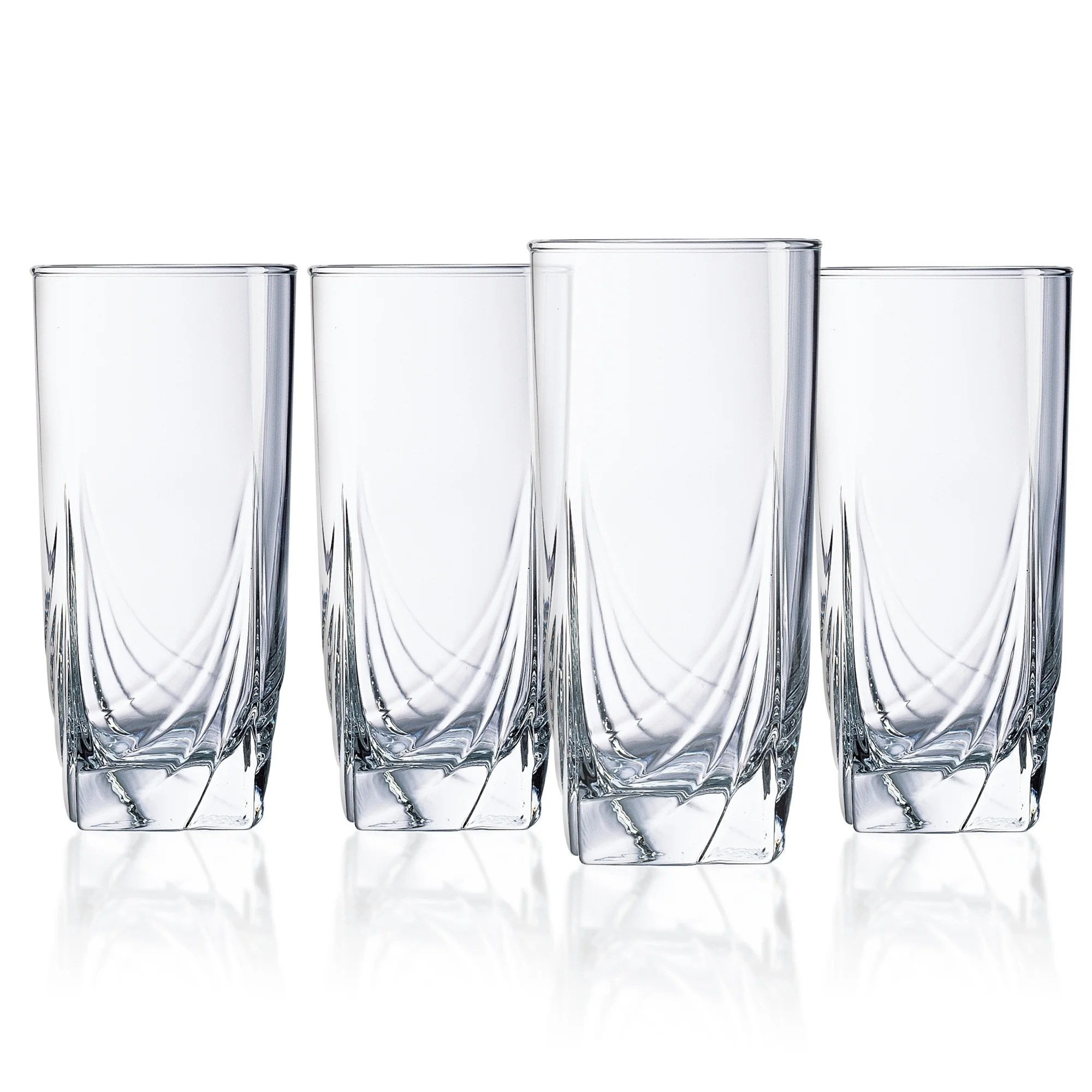 Luminarc Glass Luminarc Ascot 16 5 Ounce Cooler Glass Set Of 4