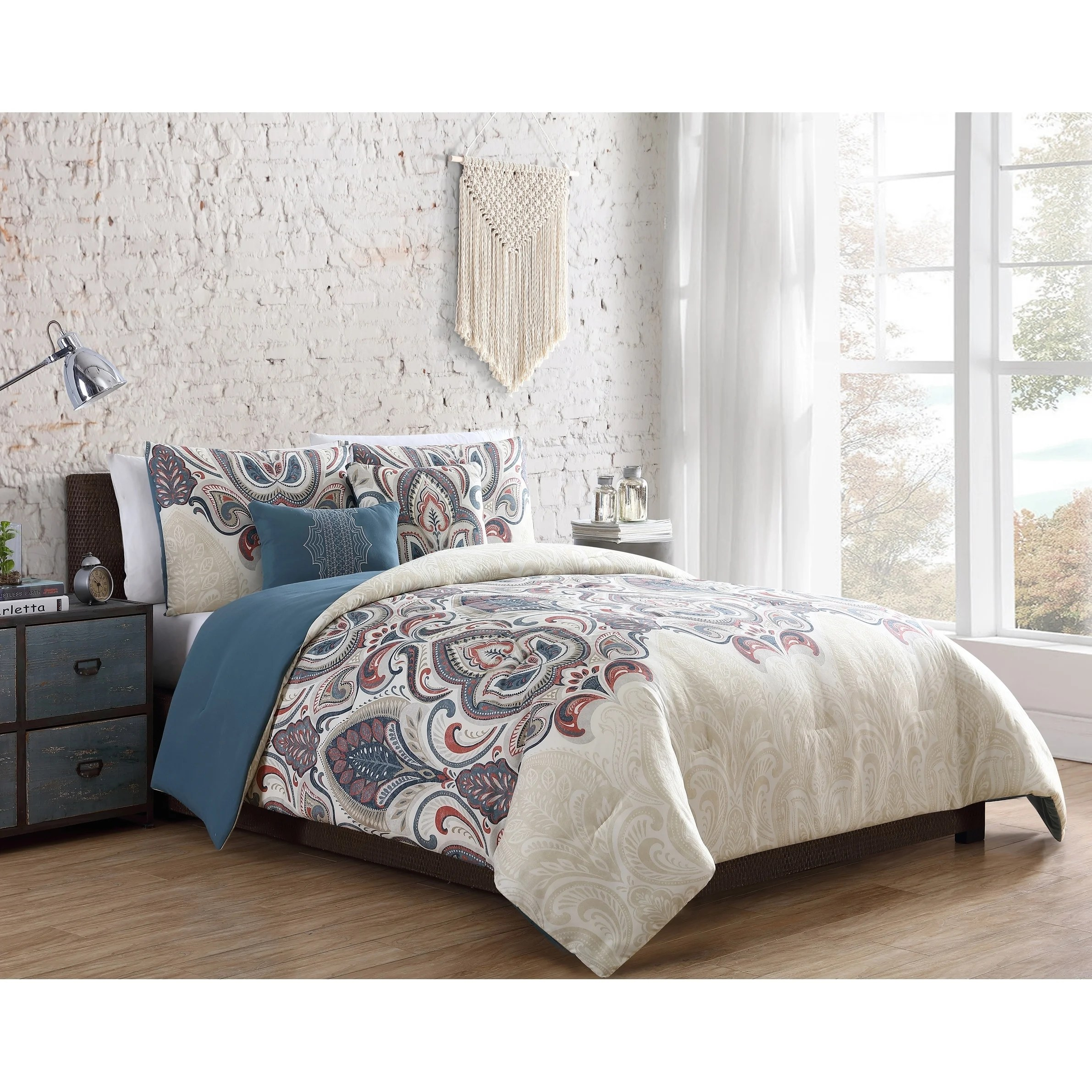 Damask Duvet Vcny Home Zelda Damask Duvet Set