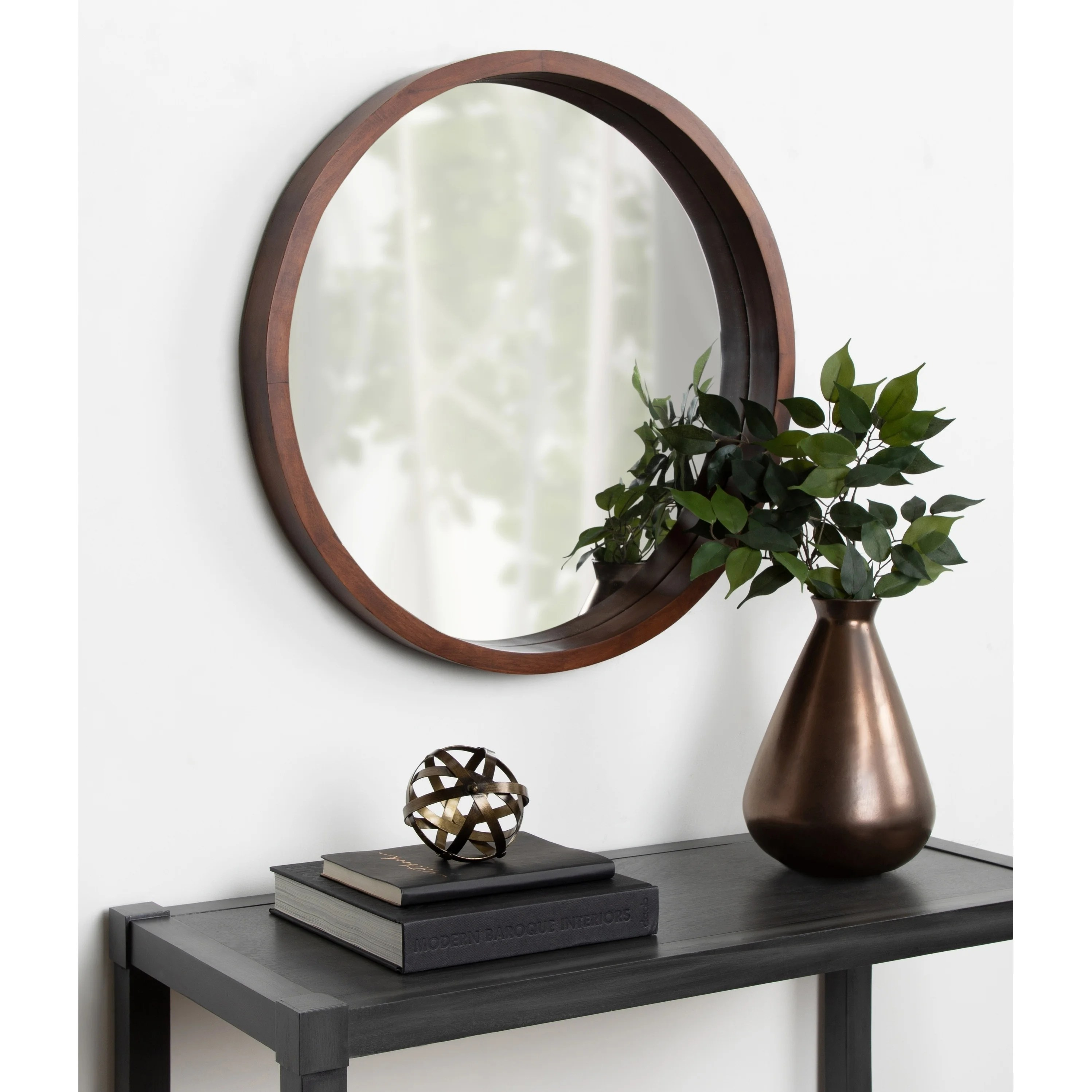 Interio Sofa Harrison Shop Kate And Laurel Hutton Round Wood Wall Mirror 22