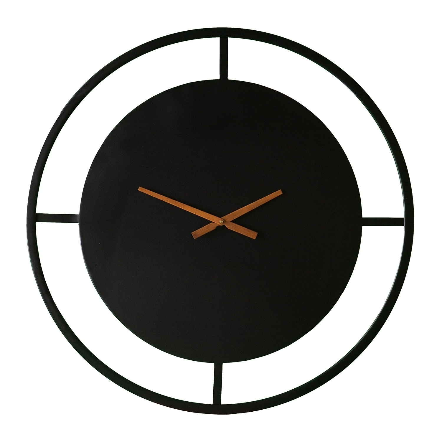 Black Wall Clock Carson Carrington Pargas Basle Decorative Wall Clock