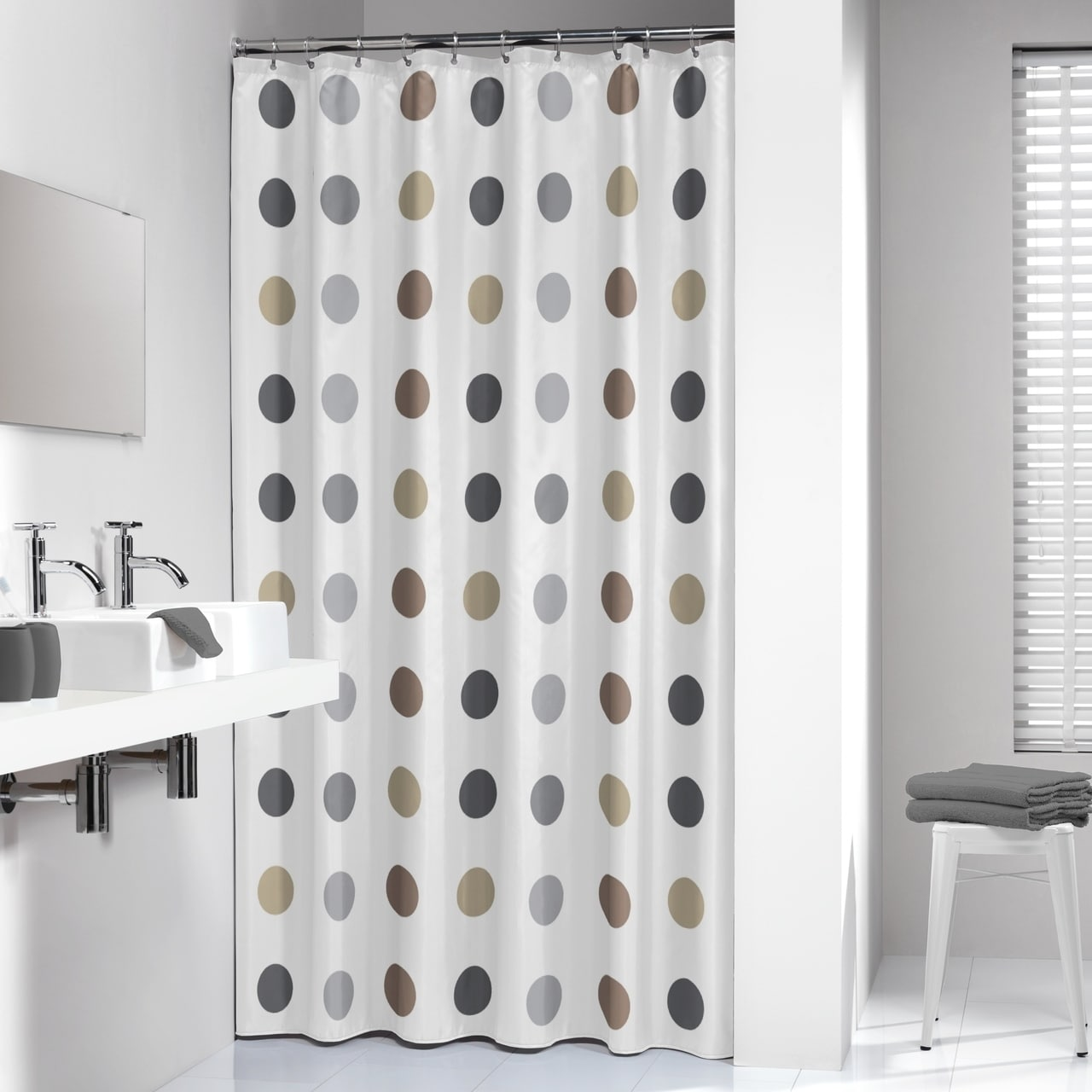 Long Shower Curtain Sealskin Extra Long Shower Curtain 78 X 72 Inch Twister Taupe Fabric