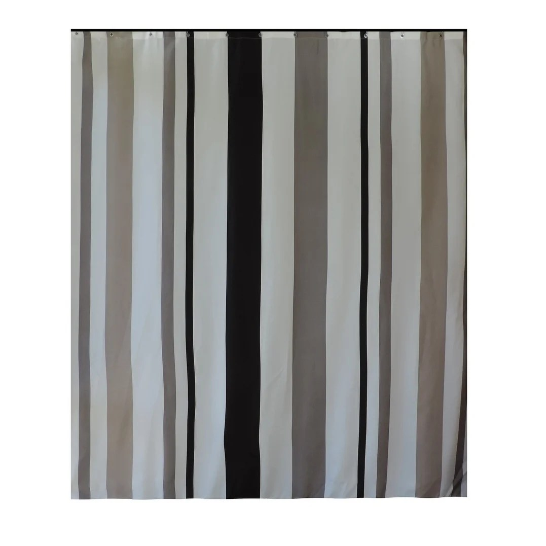 Long Shower Curtain Gamma Extra Long Shower Curtain 78 X 72 Inch Gray And Taupe Stripes Fabric