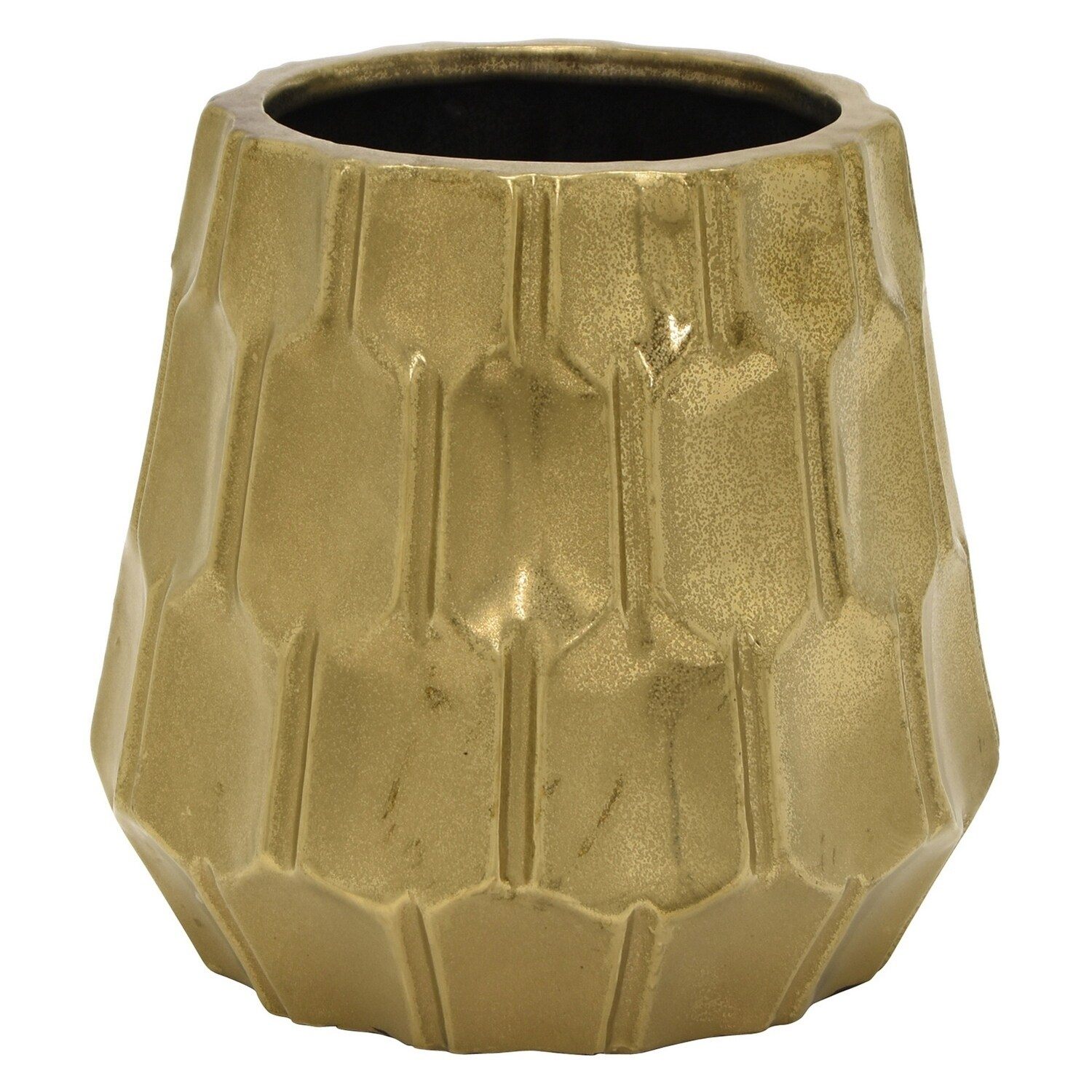 Vase Gold Three Hands Ceramic Vase Gold