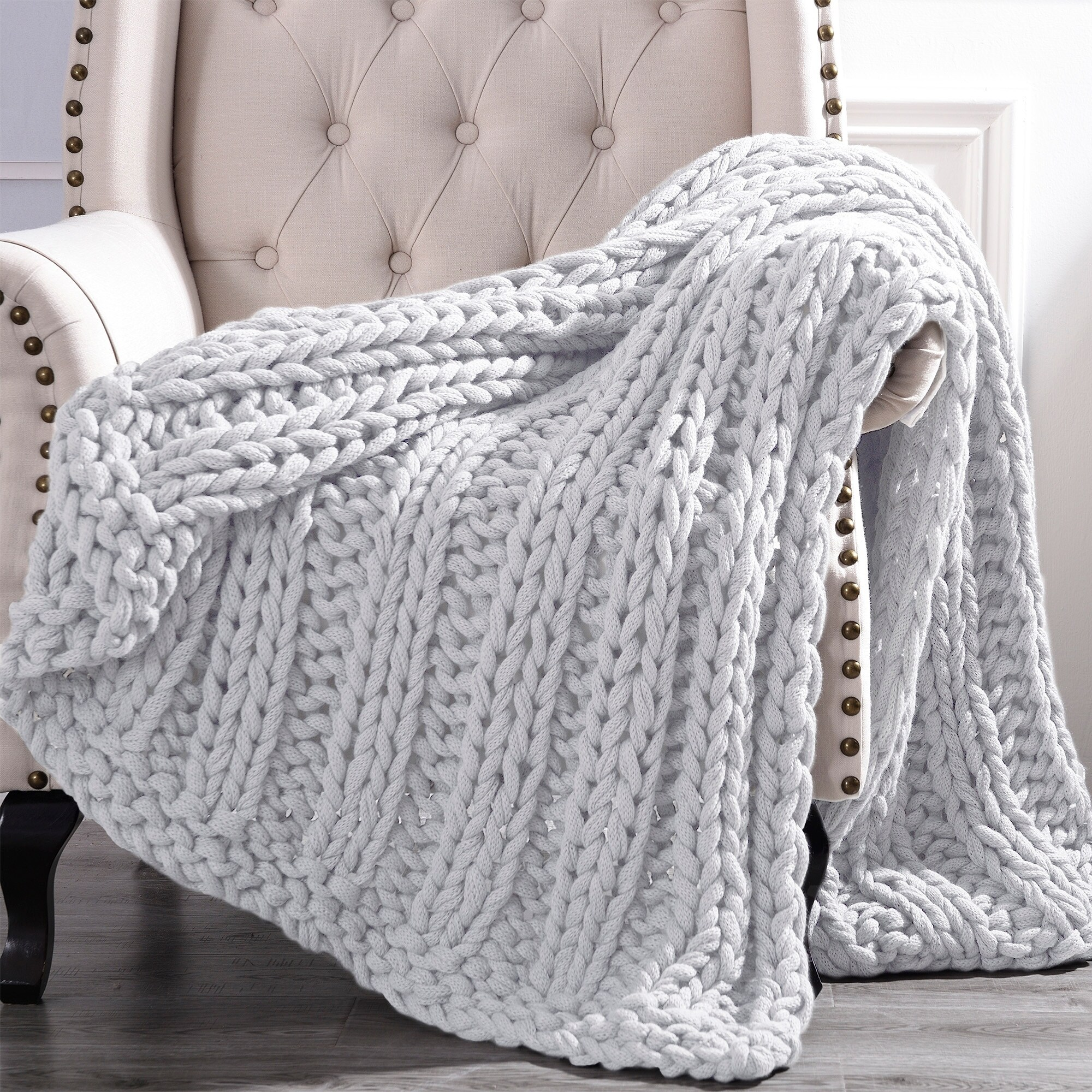 Sofa Throws Knitted Amrapur Overseas Luxury Chunky Knit Acrylic Bed Sofa Throw