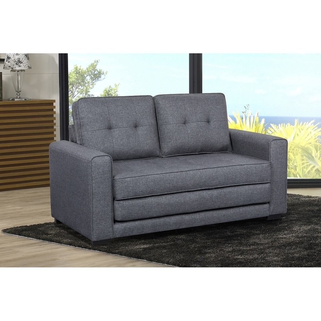 And Sofa Daisy Modern Fabric Loveseat And Sofa Bed