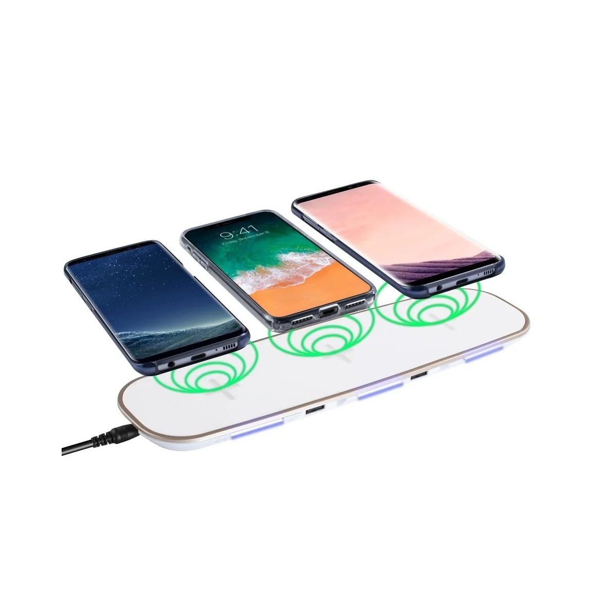 Iphone Cordless Charger Qi Wireless Charger Insten 3 In 1 Wireless Charging Pad With 2 Usb Ports For Iphone X Xr Xs Max 8 Samsung Galaxy S9 S9