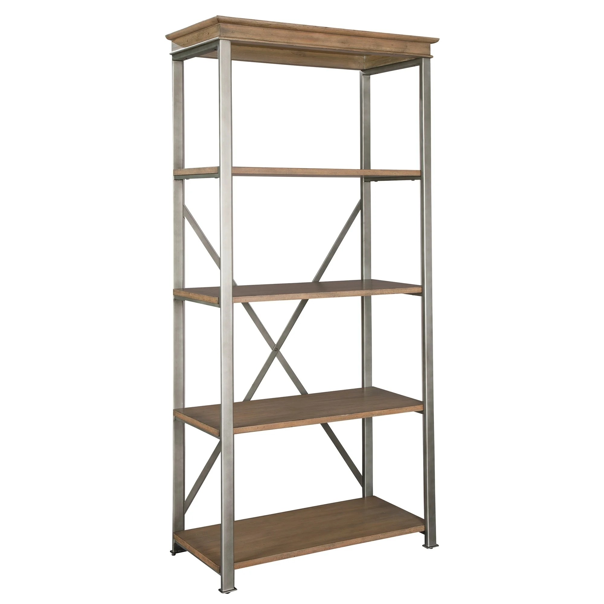 Libreros Madera Office At Home Libreros De Madera Industrial Style Antique Finished Tall 5 Shelf Media Bookshelf Bookcase
