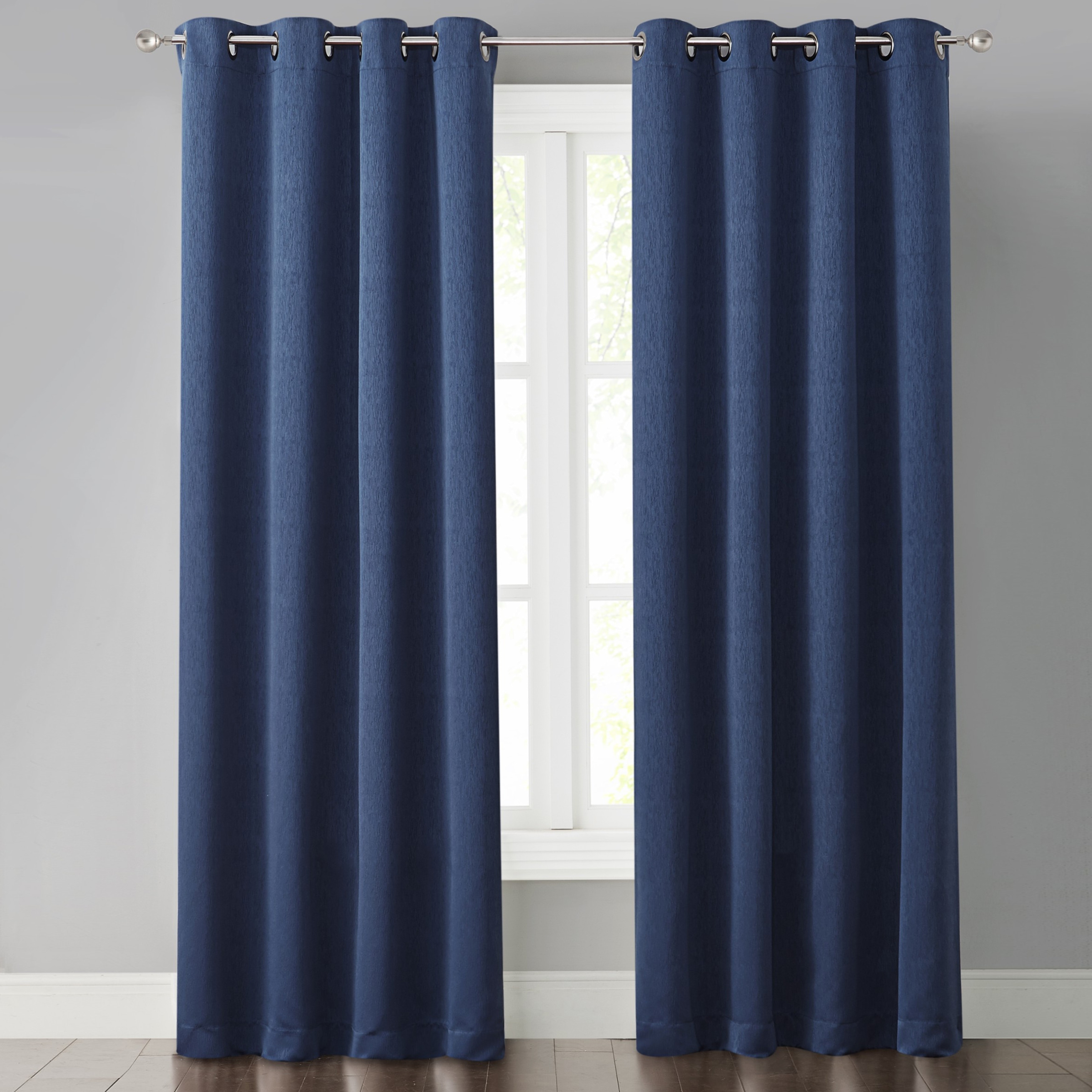 Dark Blue And Grey Curtains Foster Dark Blue Light Blocking Panel Curtain