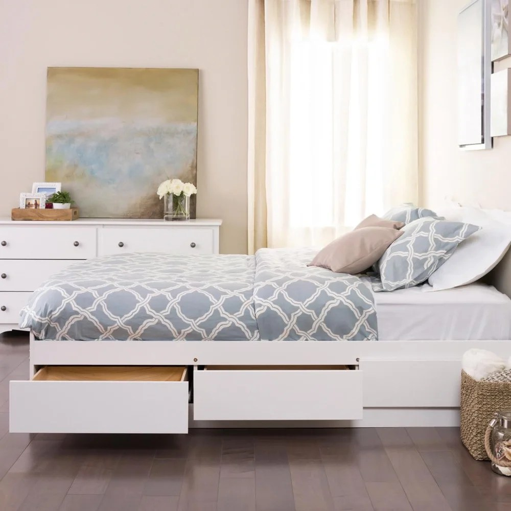 Full Double Bed Copper Grove Backus White Full Double Platform Storage Bed