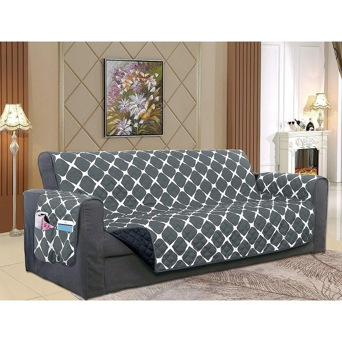 Oversized Couch Elegant Comfort 2 Tone Bloomingdale Pattern Quilted Oversized Sofa Furniture Protector