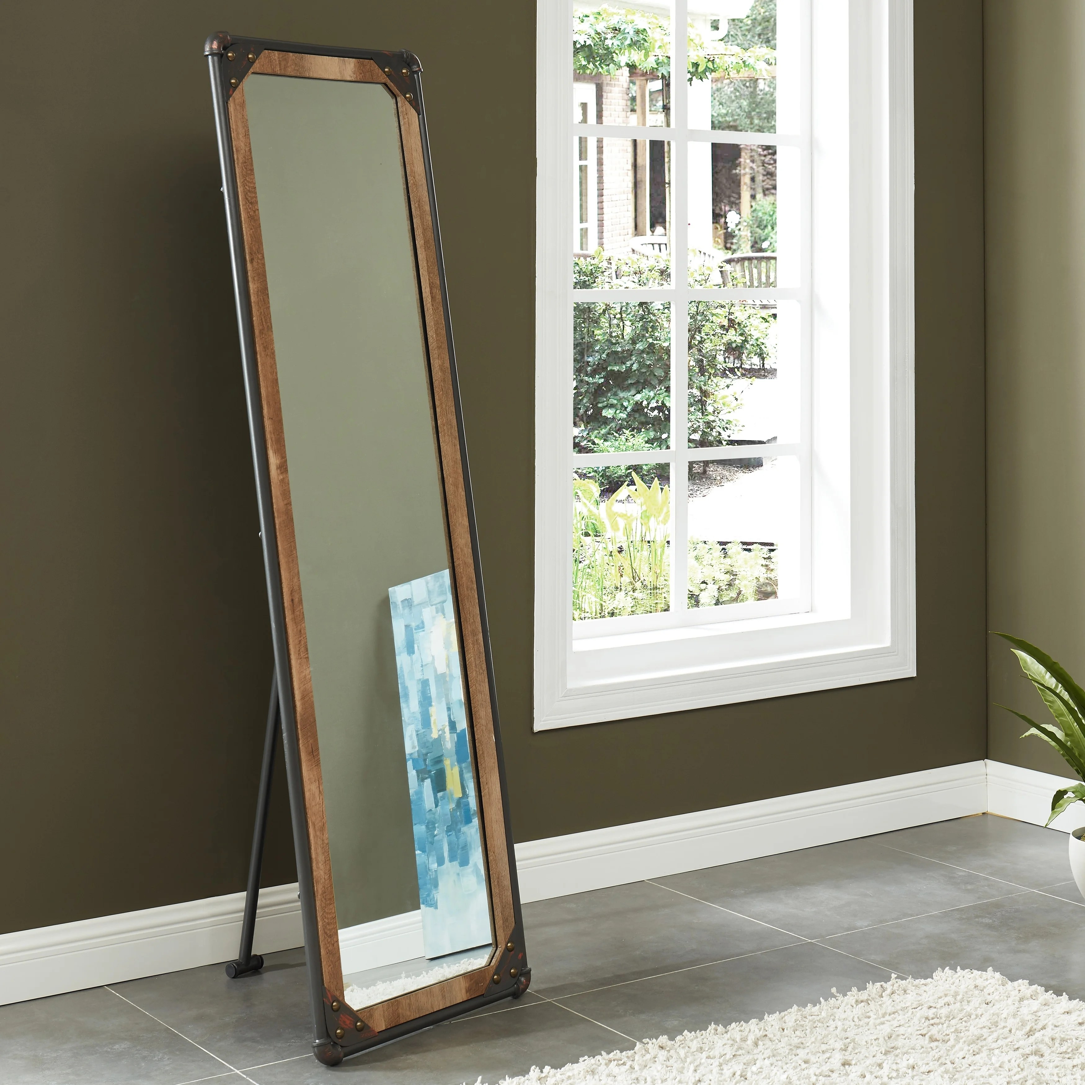 Standing Mirror Revo Industrial 68 Inch Free Standing Mirror By Foa Black Copper N A