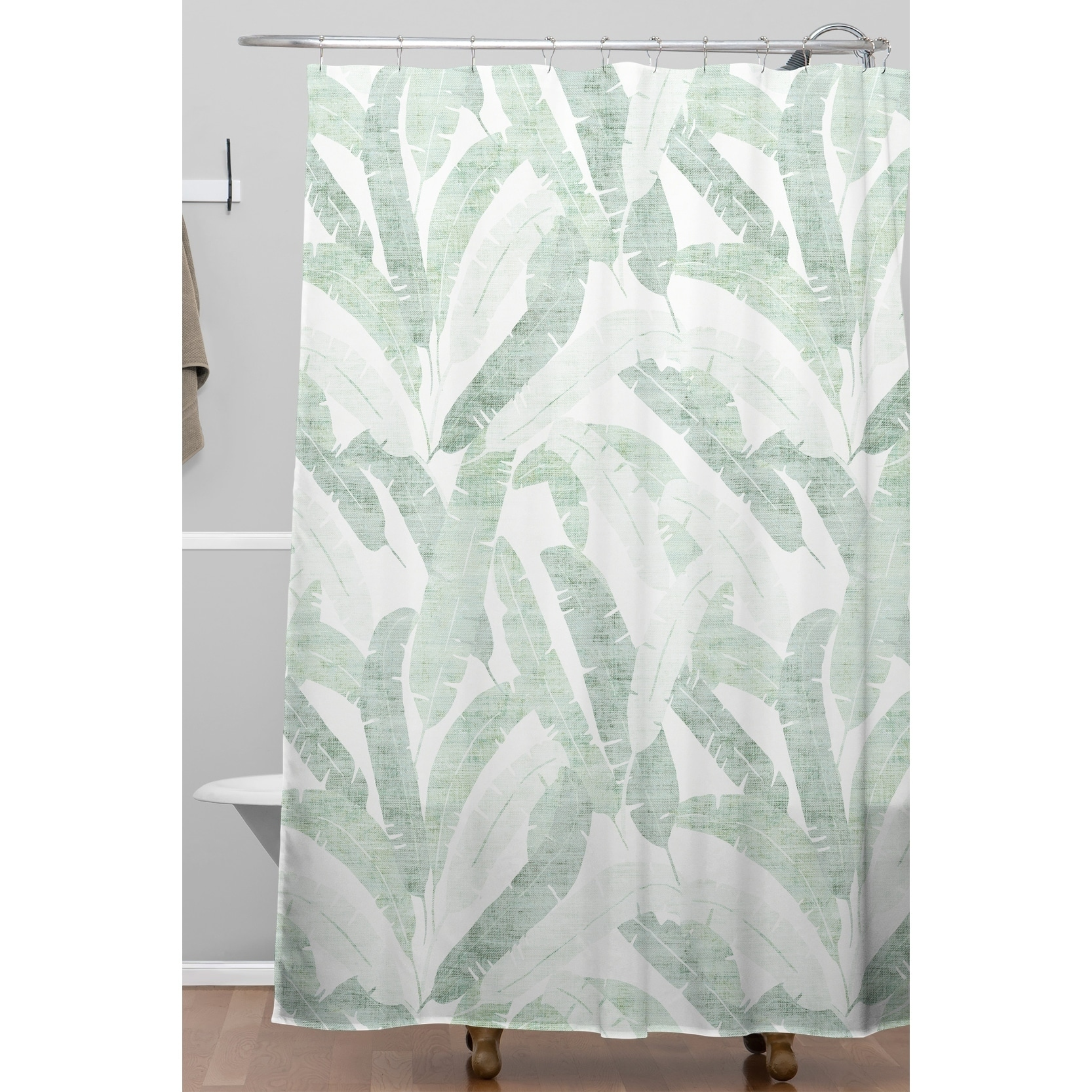 Banana Leaf Shower Curtain Deny Designs Banana Leaf Shower Curtain 69