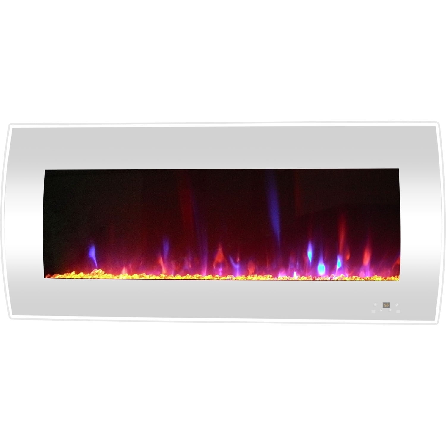 Wall Mount Fireplace Heaters Cambridge 42 In Curved Wall Mount Electric Fireplace Heater In White