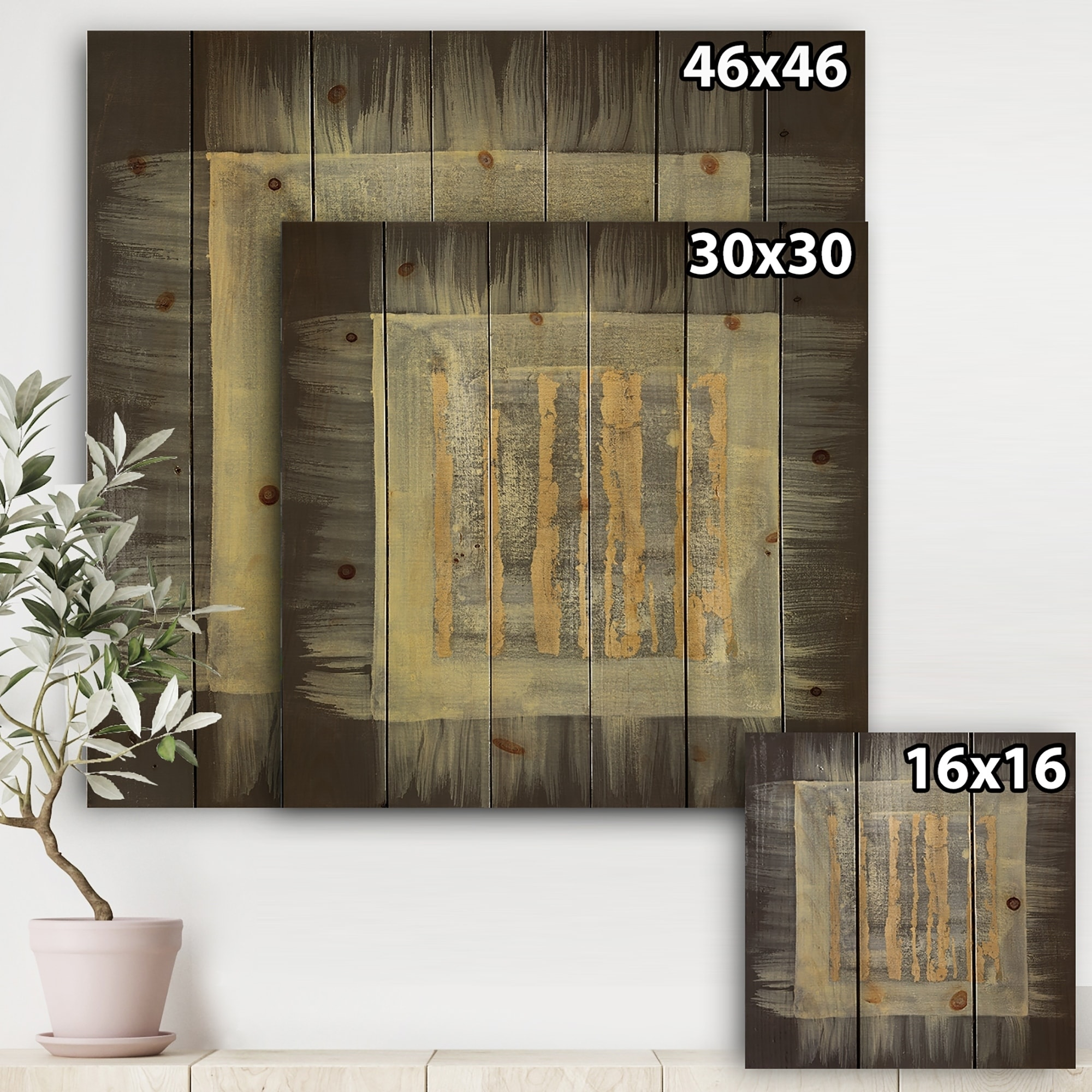 Abstract Wood Wall Art Designart Galm Abstract Ii Transitional Print On Natural Pine Wood Black