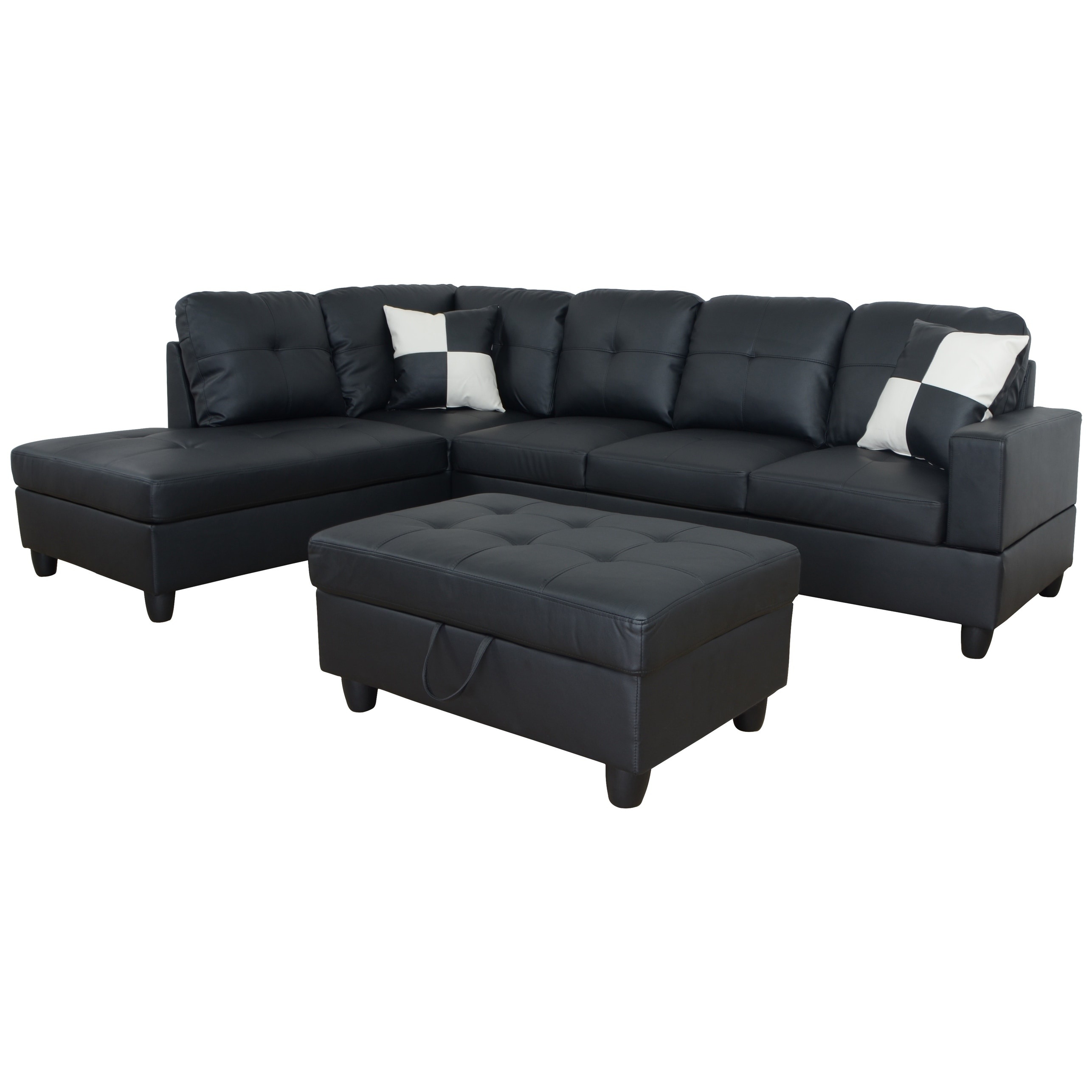 Sofa L Images Aycp Furniture L Shape Sectional Sofa With Storage Ottoman