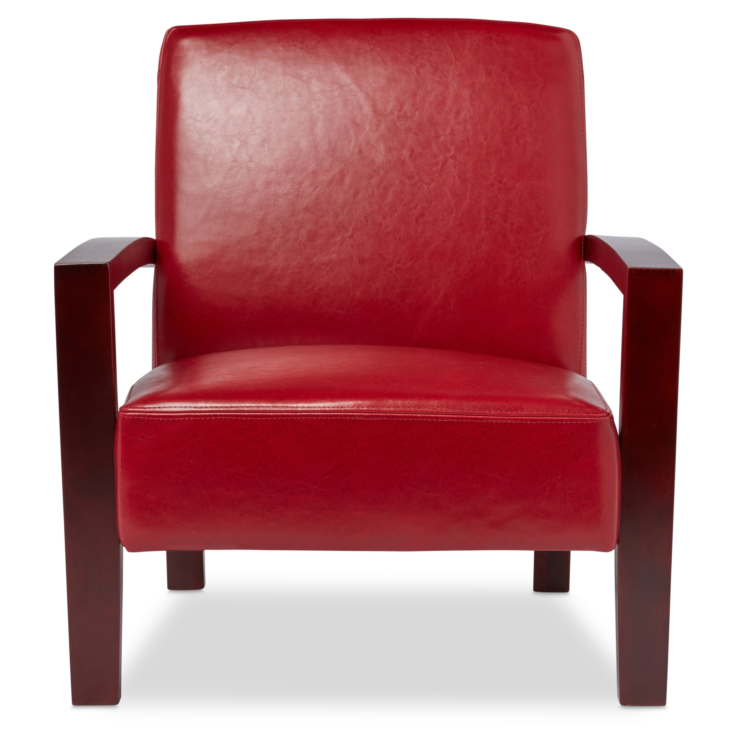 Leather Lounge Porch Den Roadster Burnt Red Leather Lounge Chair