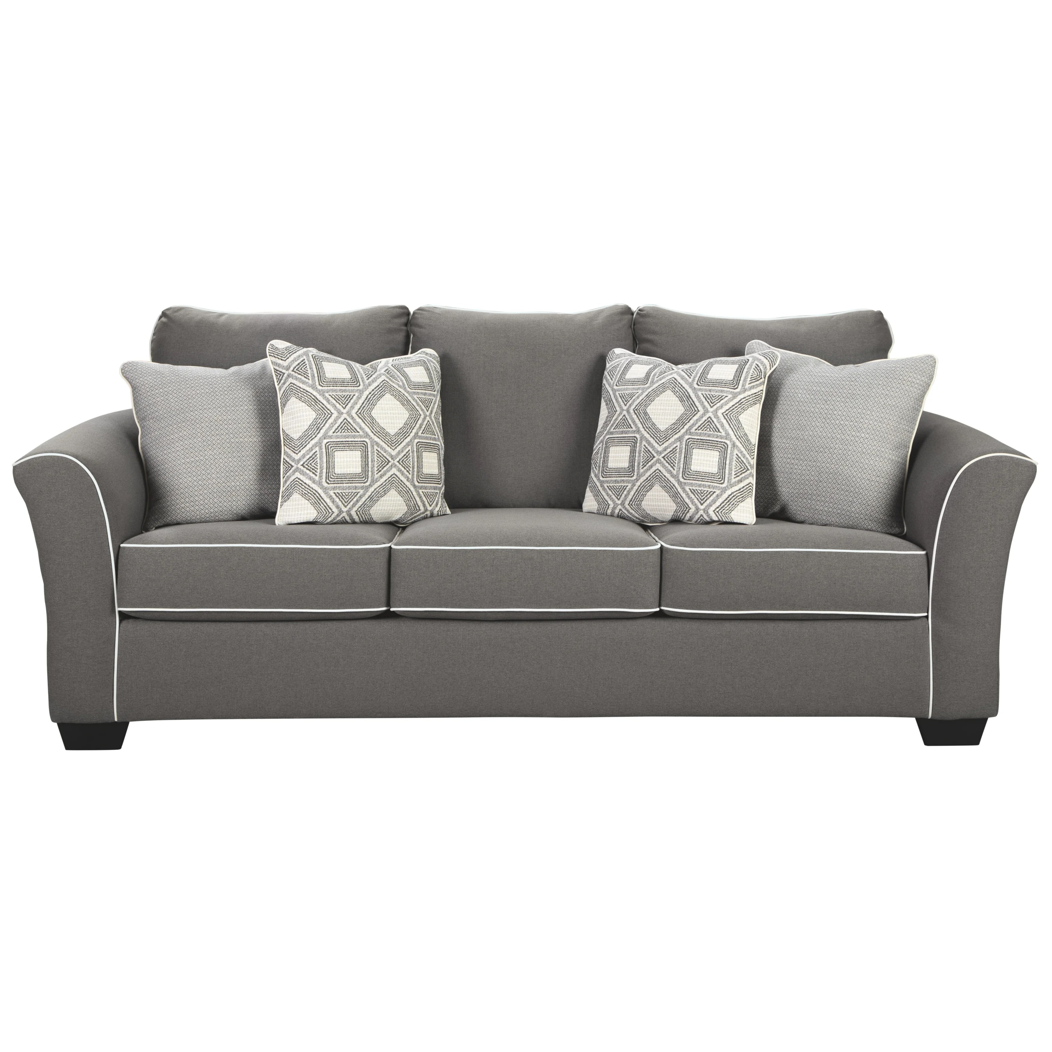 Queen Sofa Bed Signature Design By Ashley Domani Charcoal Microfiber Fabric Queen Sofa Sleeper