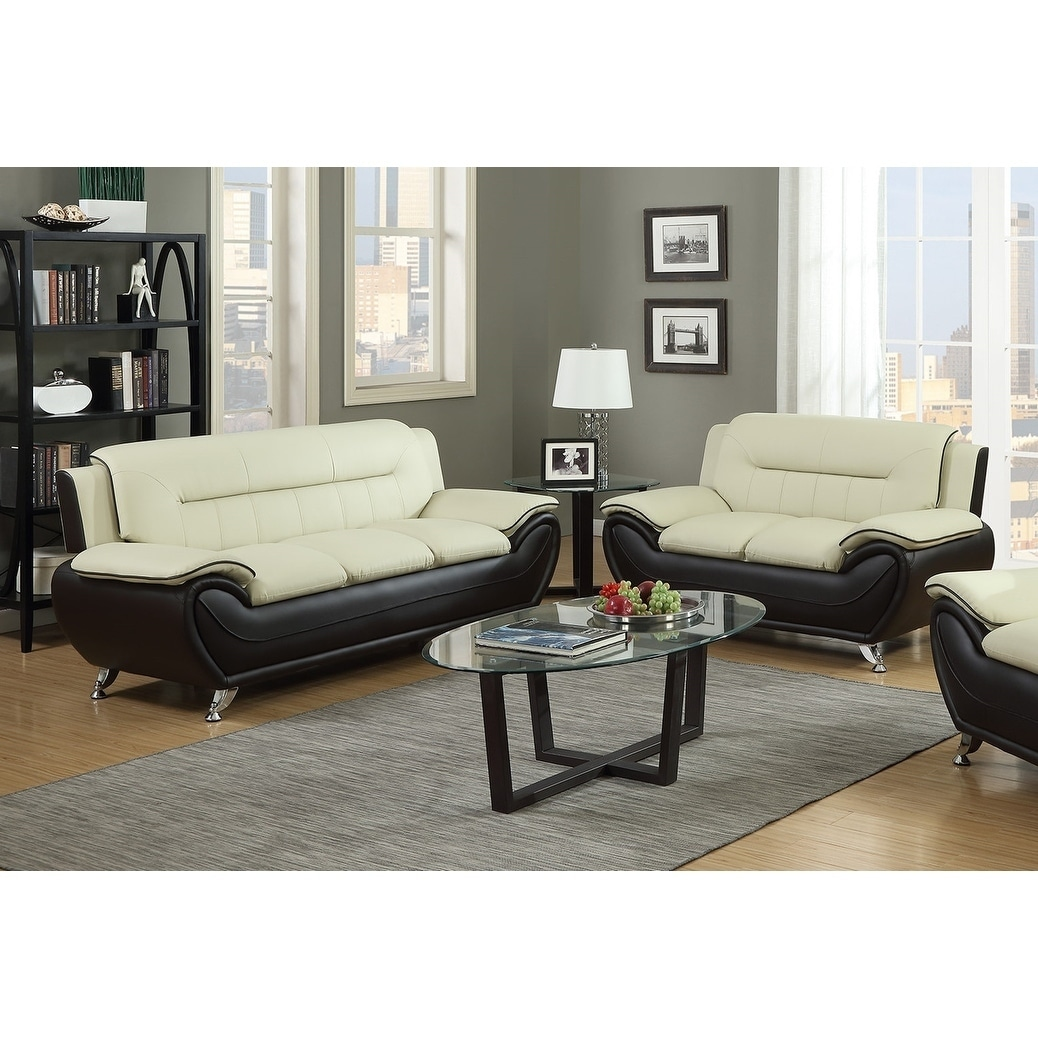 Brown Sofa And Loveseat Sets 2pc Beige On Brown Sofa Loveseat Set
