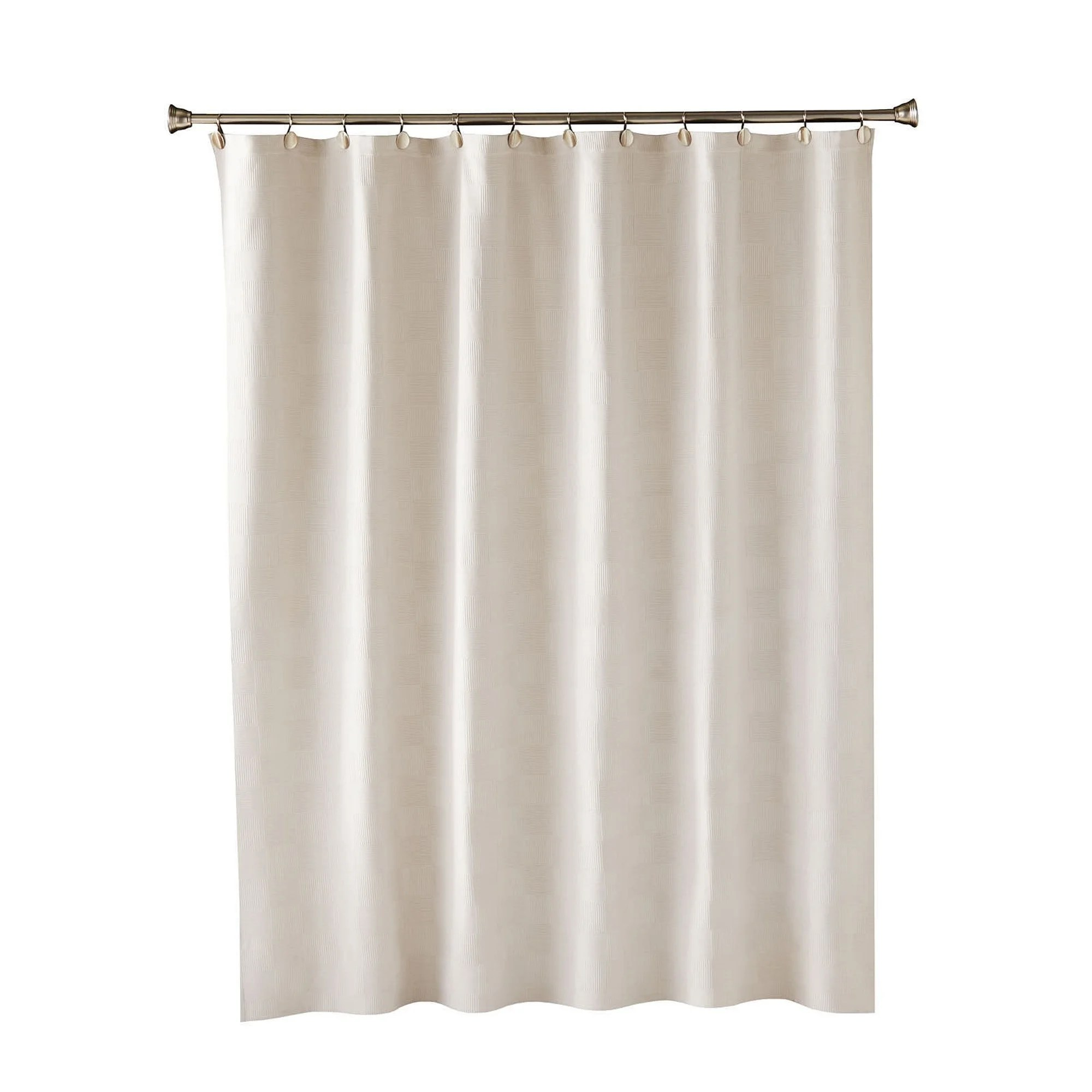 Shower Curtains For Less Skl Home Large Basketweave Shower Curtain In Taupe