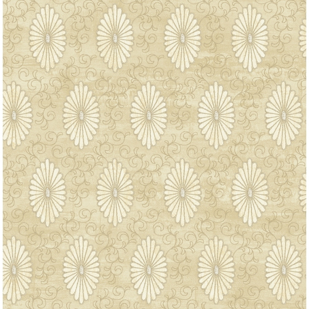 Metallic Gold Wallpaper Palladium Medallion Wallpaper In Metallic Gold Off White