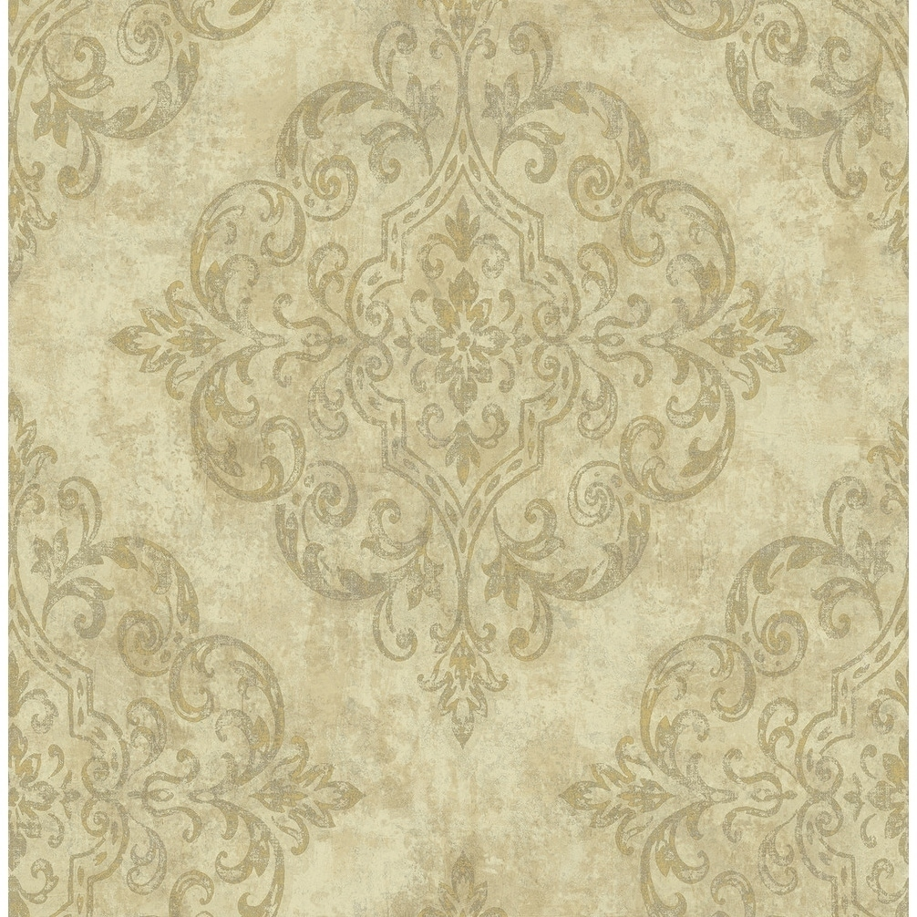 Metallic Gold Wallpaper Atelier Damask Harlequin Wallpaper In Metallic Gold Off White