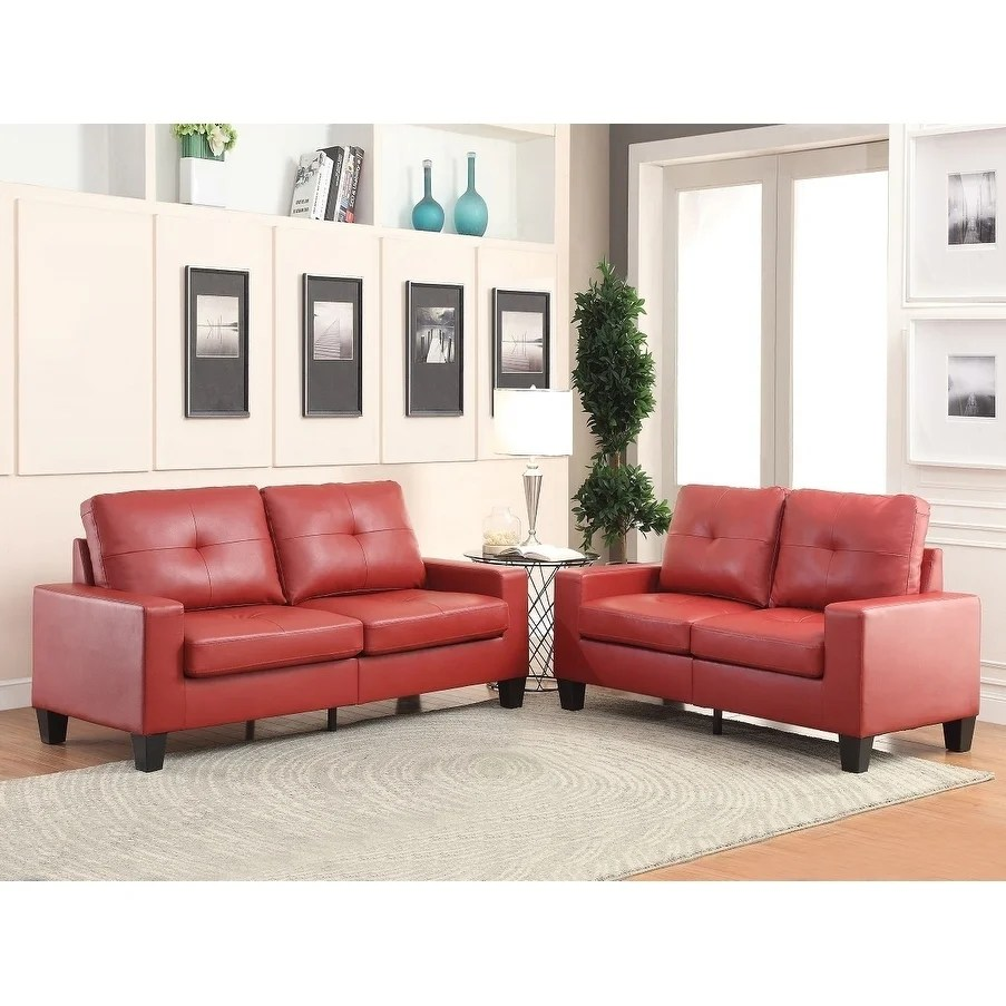 Faux Leather Sofa And Loveseat | Reclining Sofa White Faux Leather ...