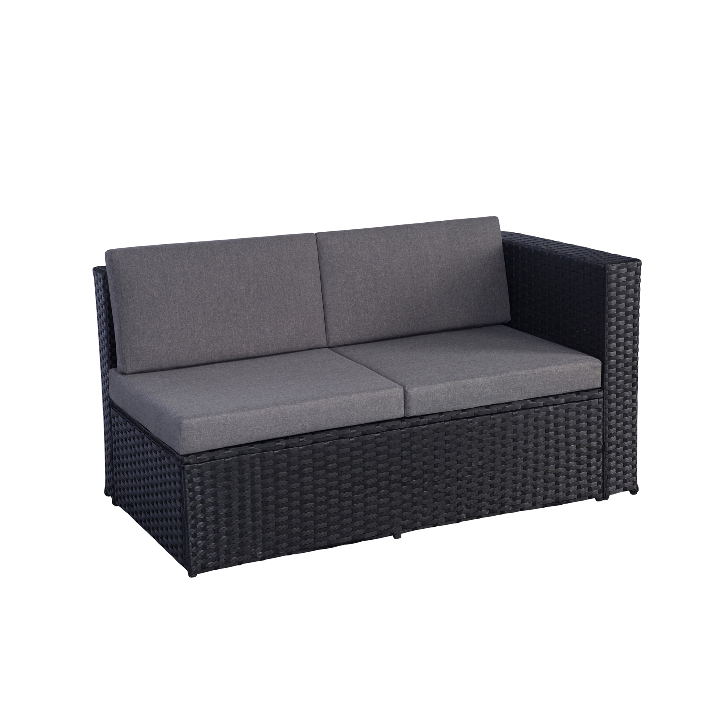 Cheap L Shaped Rattan Sofa Havenside Home Boothbay 6 Piece Resin Wicker Sectional Sofa Set With Grey Cushions