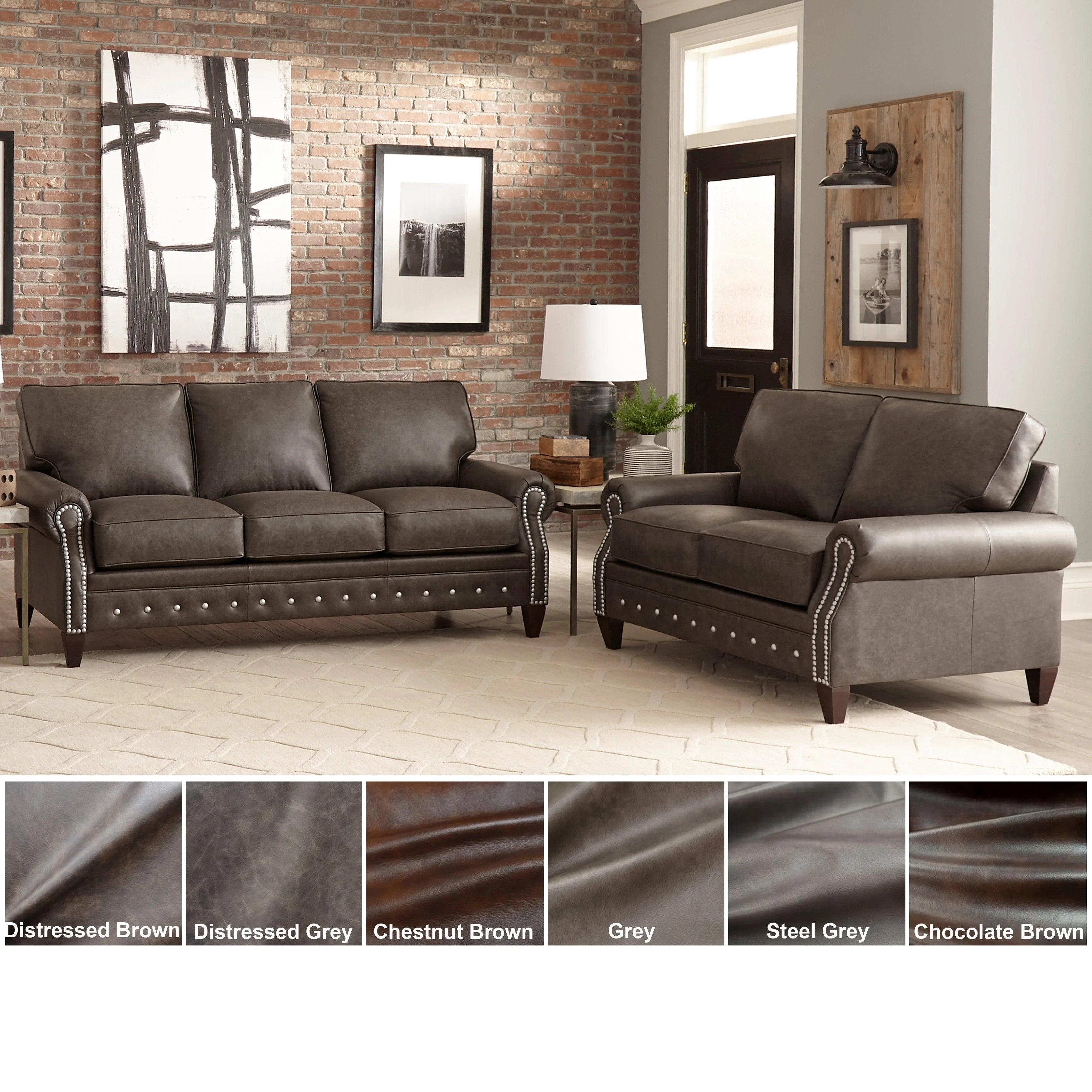 Caminetto Grill Chianciano Leather Couch Made In Usa