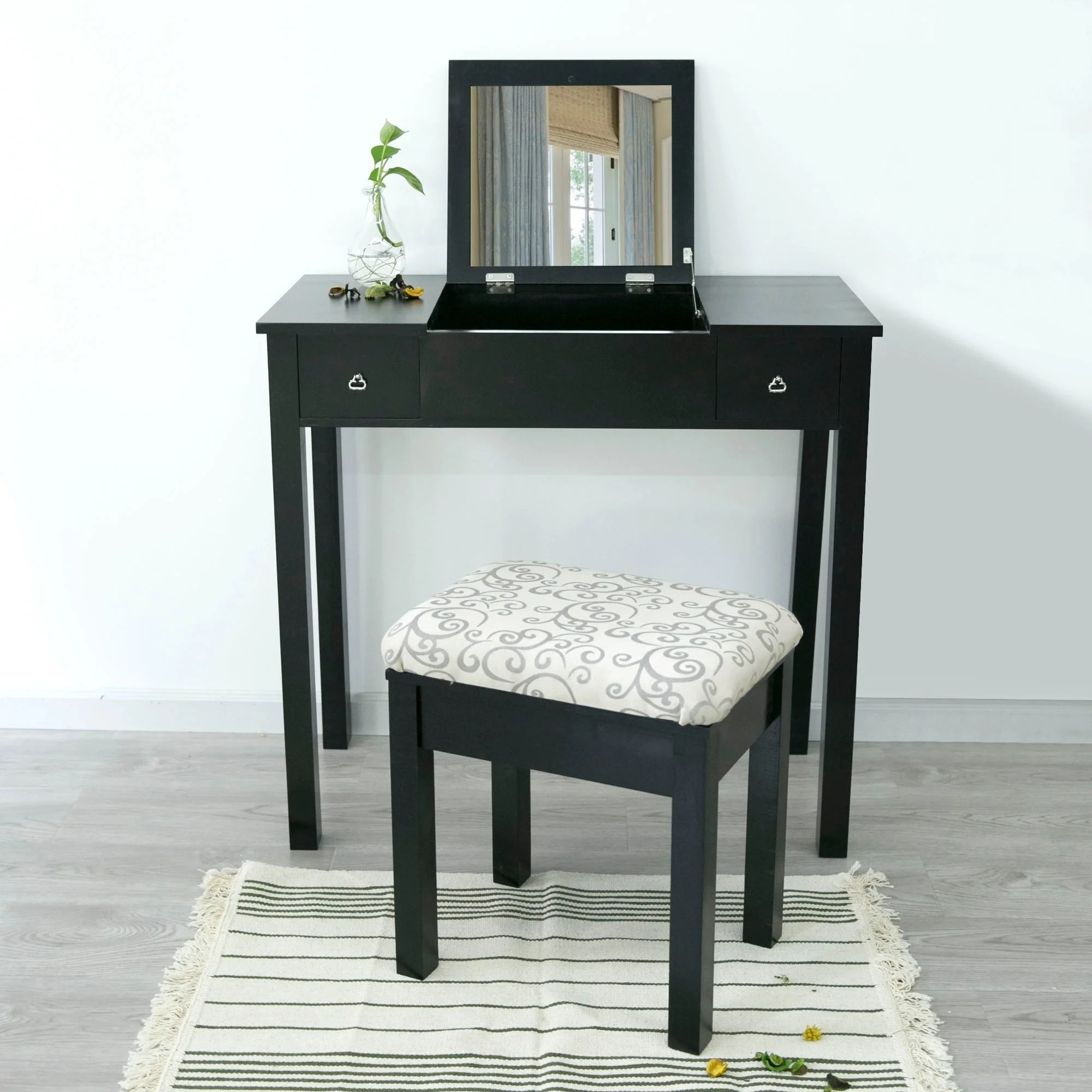Table Blanche Blanche Makeup Vanity Table And Stool Set
