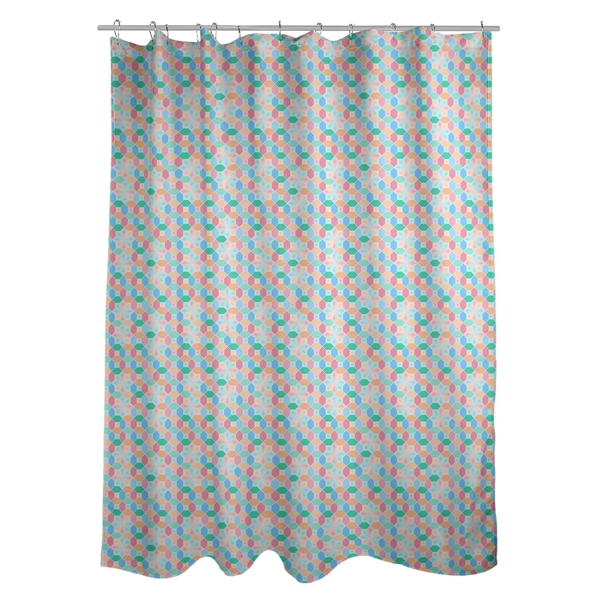 Glass Shower Curtains Katelyn Elizabeth Multicolor Stained Glass Pattern Shower Curtain