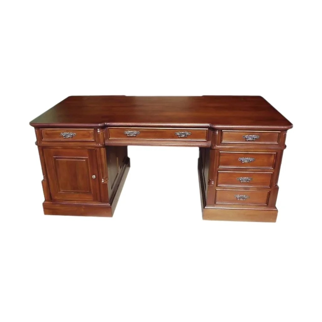 Mahogany Office Desk Solid Kiln Dried Mahogany Small Single Sided Office Desk
