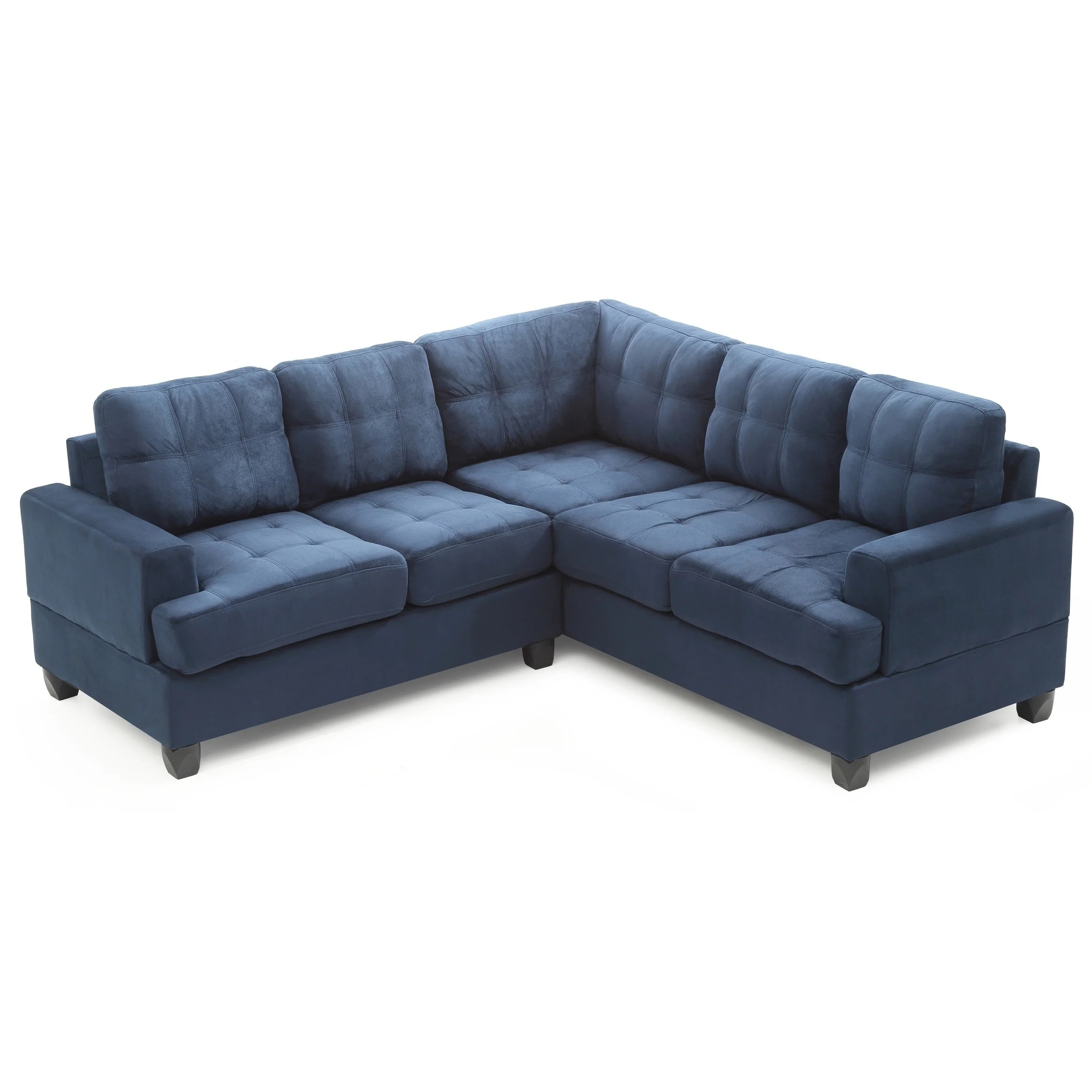 Blue Sectional Lyke Home Simpson Navy Blue Sectional