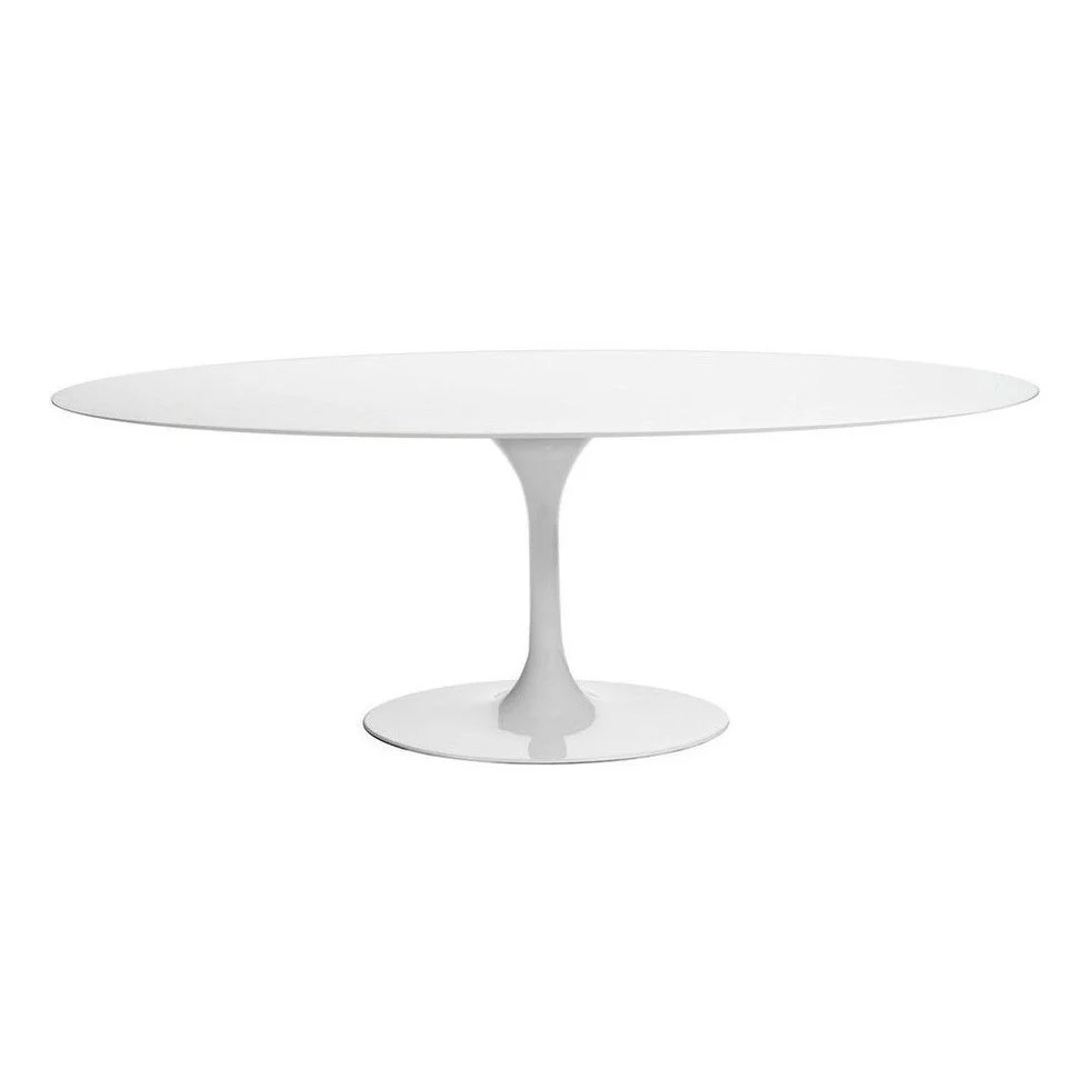 Tulip Table Tulip Dining Table Oval Mdf White N A