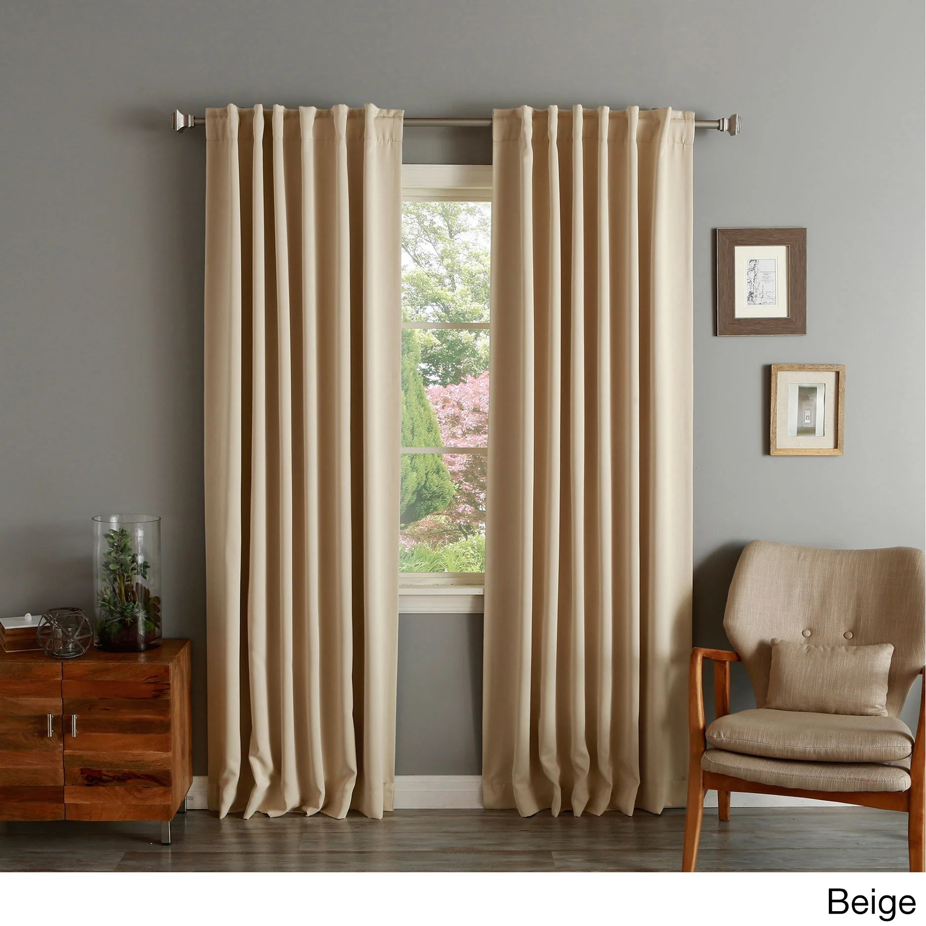 94 Inch Blackout Curtains Aurora Home Insulated Thermal Blackout 84 Inch Curtain Panel Pair 52 X 84