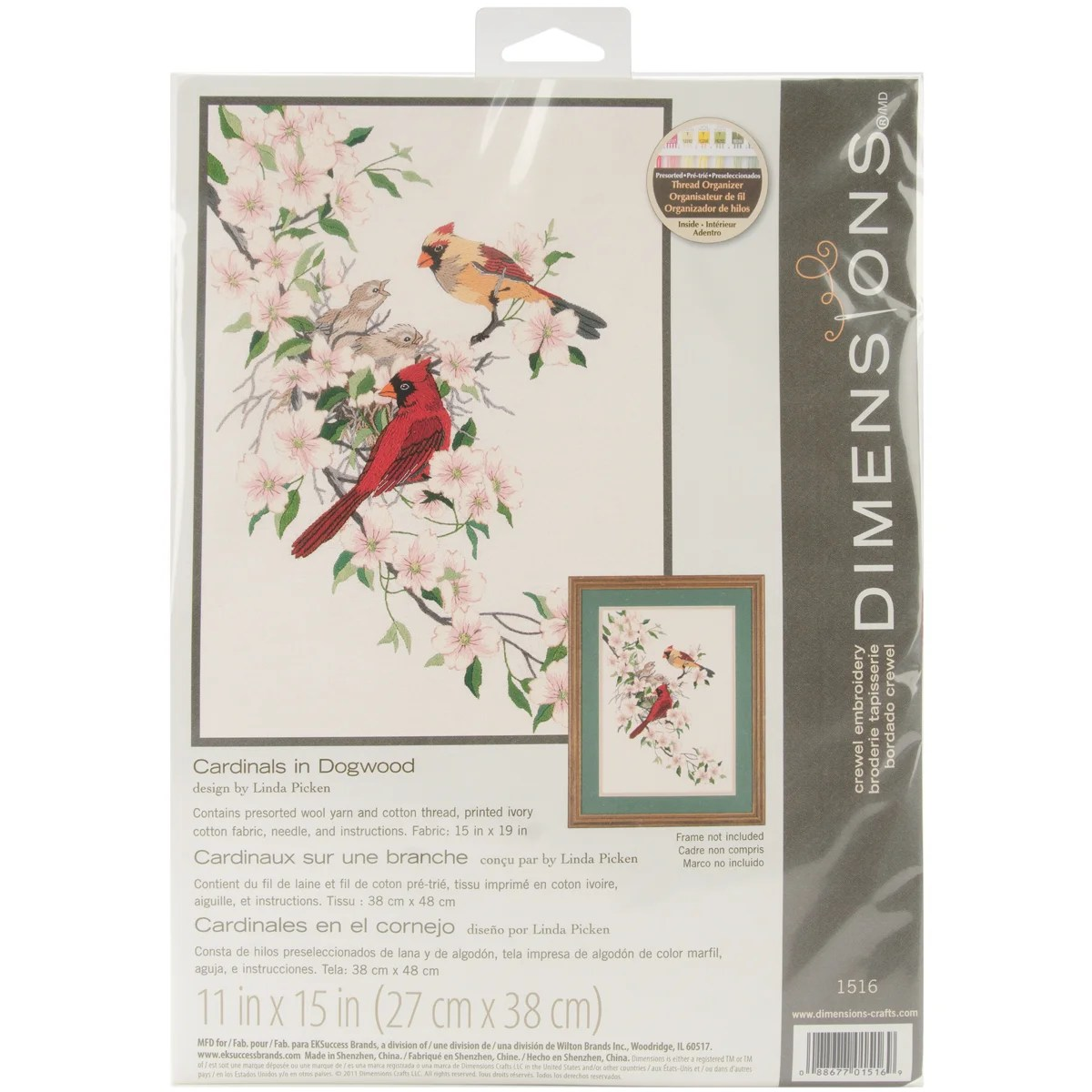 Tapisserie Om Cardinals In Dogwood Crewel Embroidery Kit
