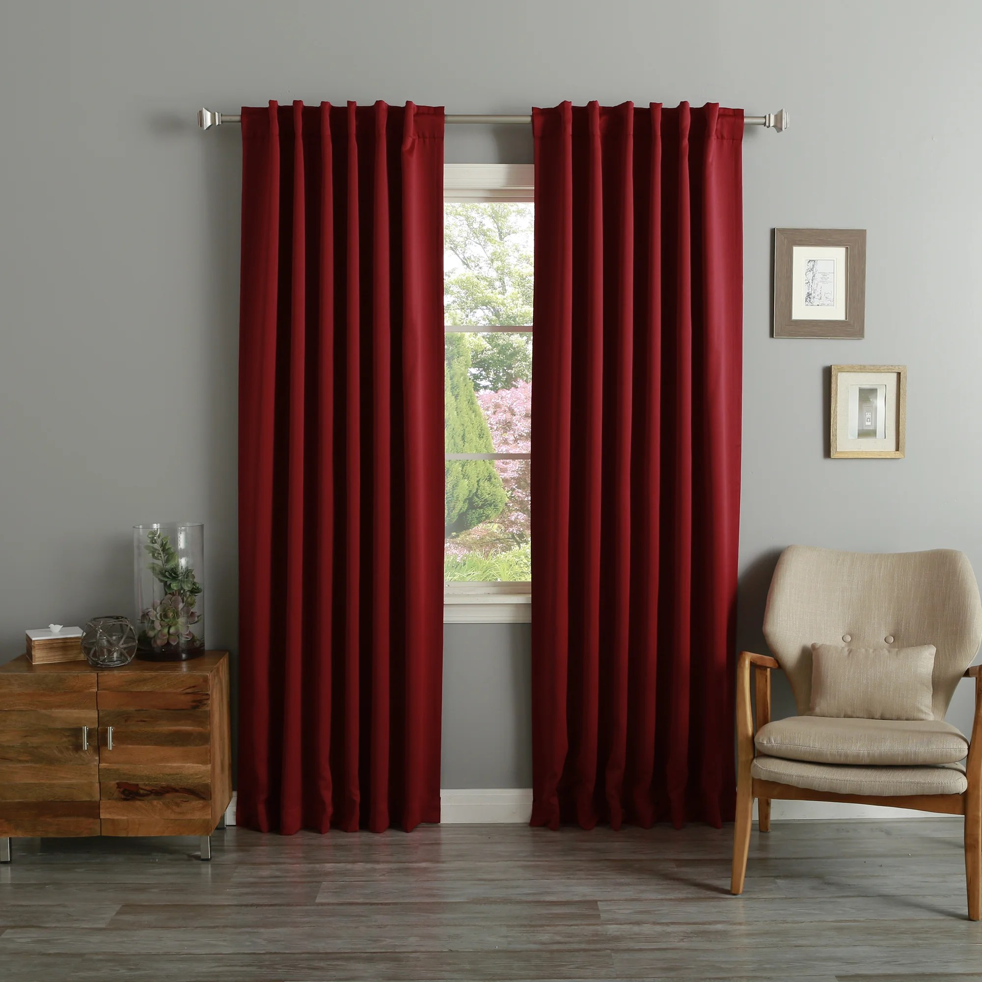 94 Inch Blackout Curtains Aurora Home Thermal Rod Pocket 96 Inch Blackout Curtain Panel Pair 52 X 96