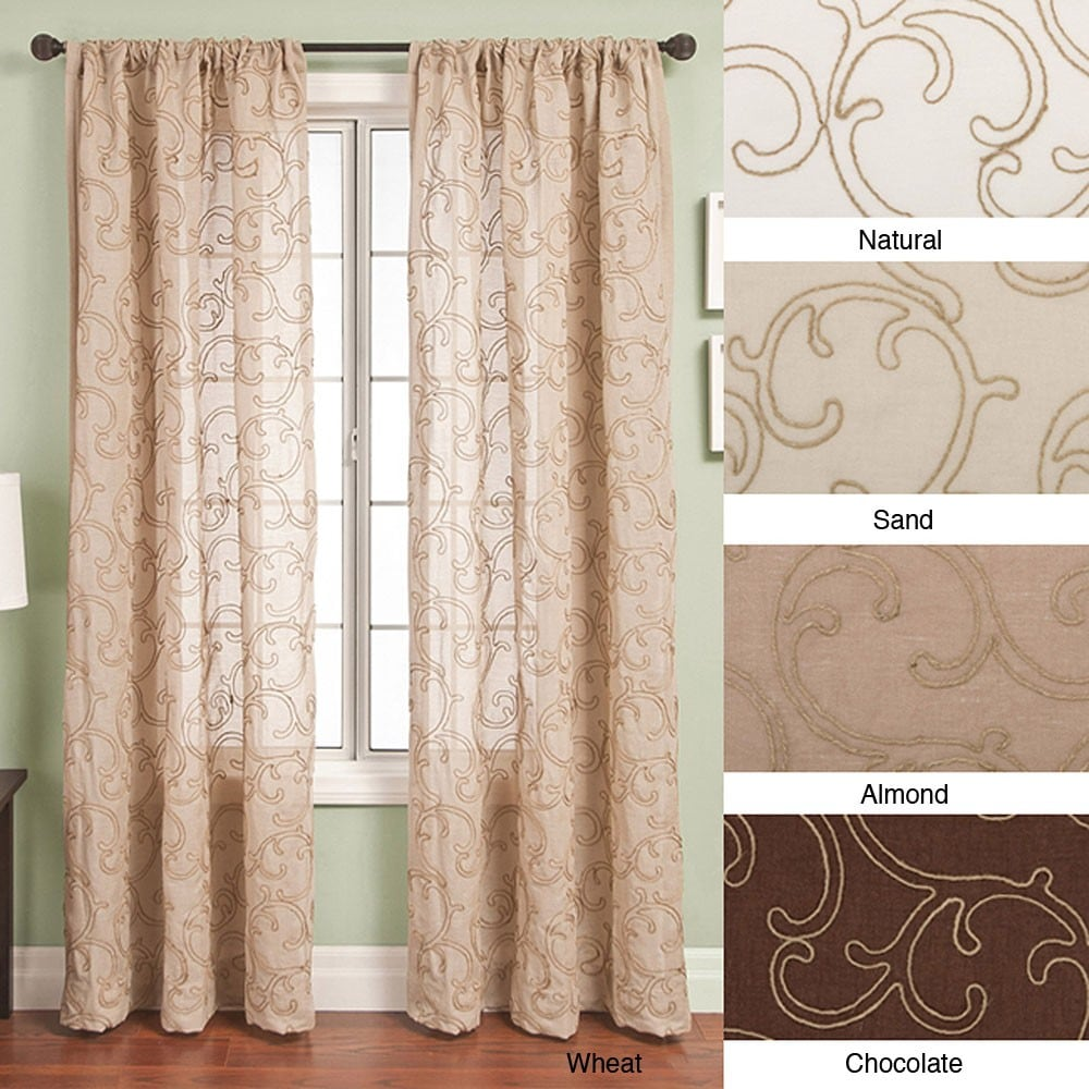 108 Inch Curtain Panels Softline Santiago Rod Pocket 108 Inch Curtain Panel 55 X 108